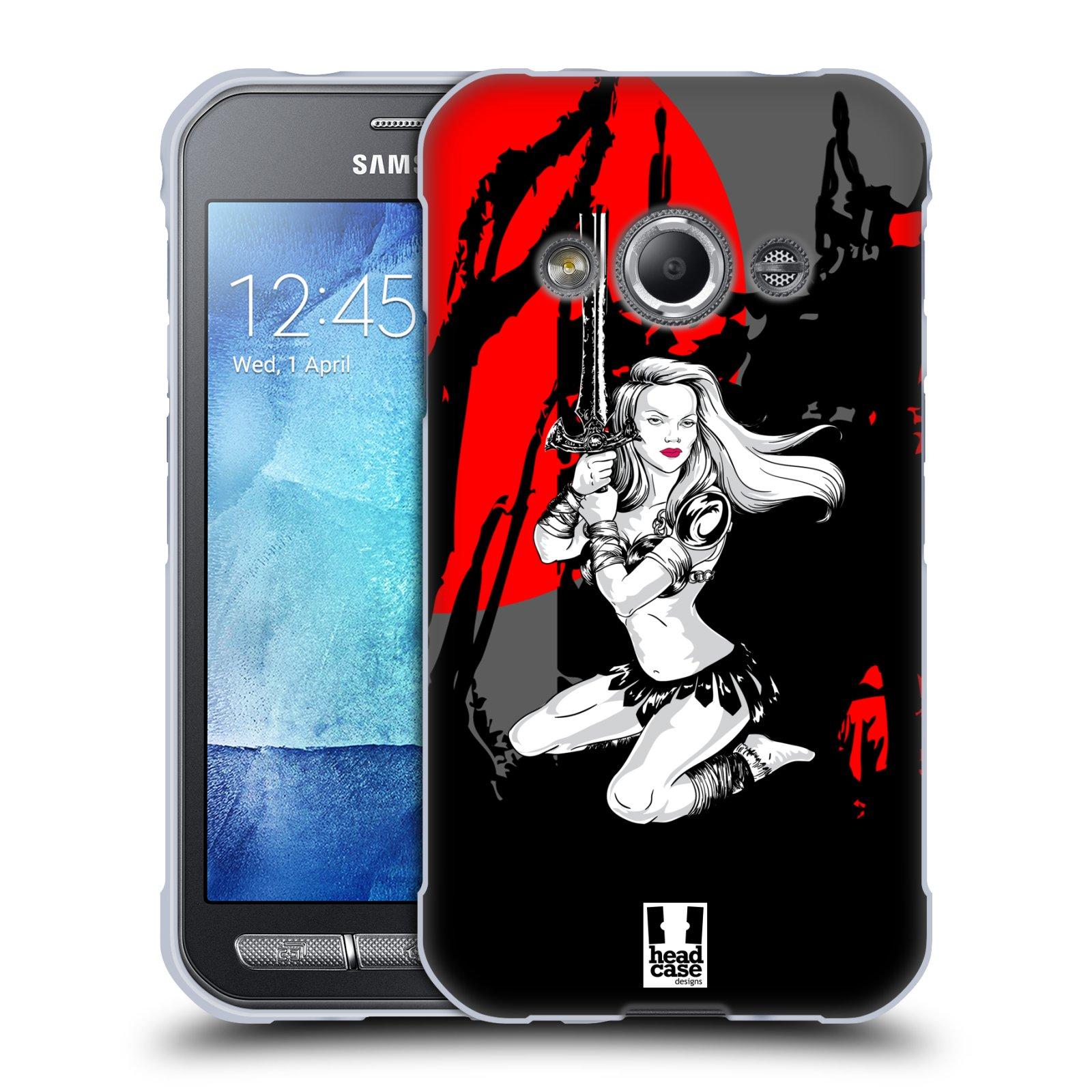 HEAD CASE silikonový obal na mobil Samsung Galaxy Xcover 3 vzor Komixové bojovnice AMAZONKA