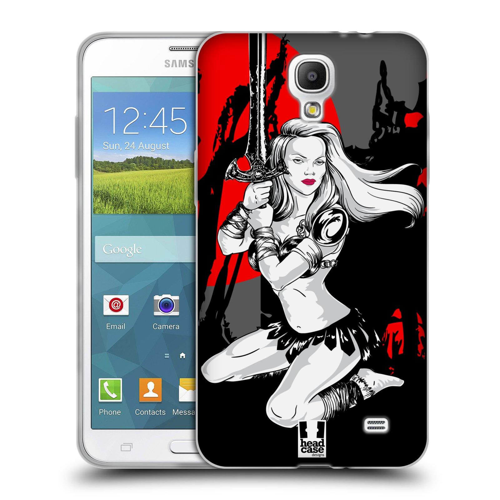 HEAD CASE silikonový obal na mobil Samsung Galaxy Mega 2 vzor Komixové bojovnice AMAZONKA