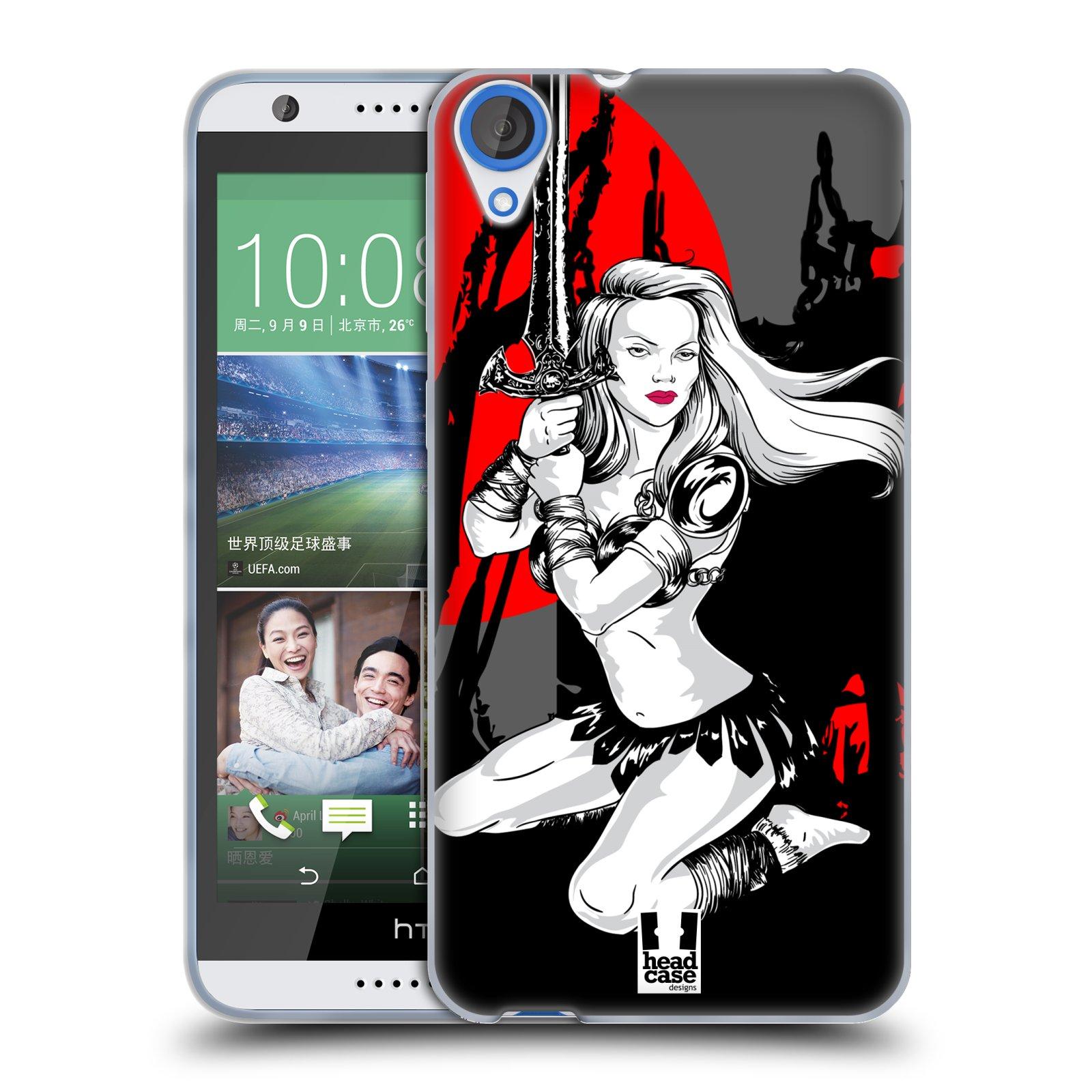 HEAD CASE silikonový obal na mobil HTC DESIRE 820 vzor Komixové bojovnice AMAZONKA