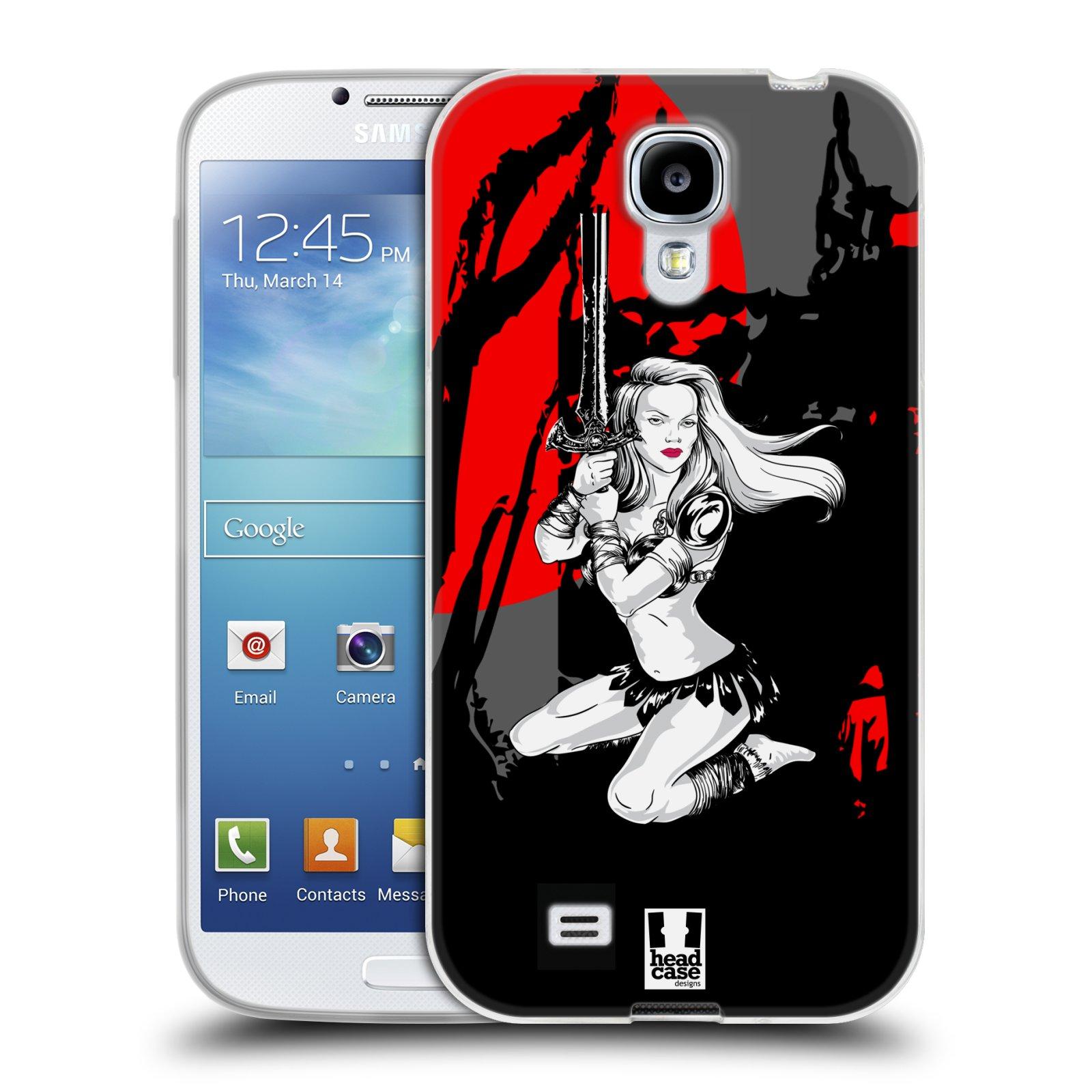 HEAD CASE silikonový obal na mobil Samsung Galaxy S4 i9500 vzor Komixové bojovnice AMAZONKA