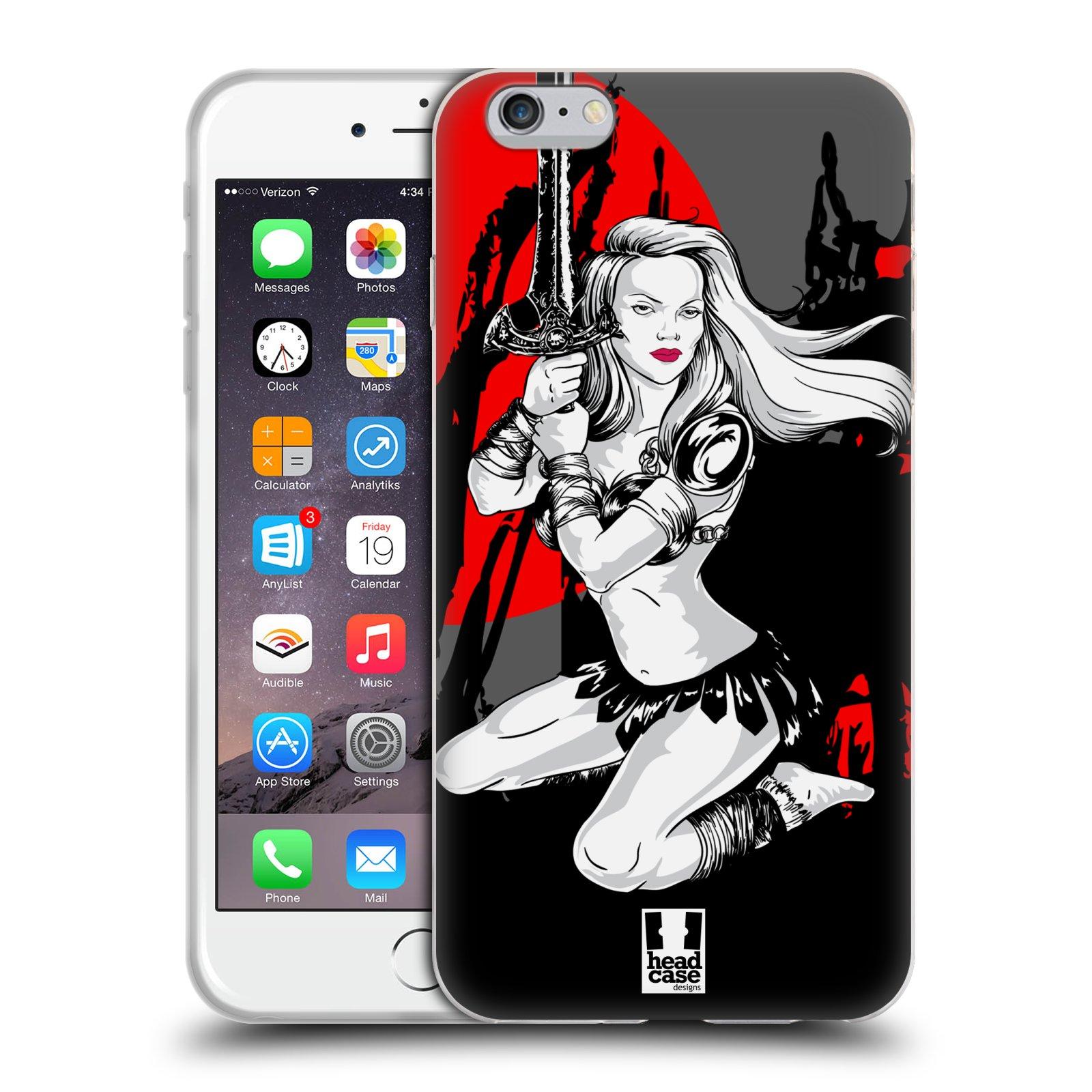 HEAD CASE silikonový obal na mobil Apple Iphone 6 PLUS/ 6S PLUS vzor Komixové bojovnice AMAZONKA