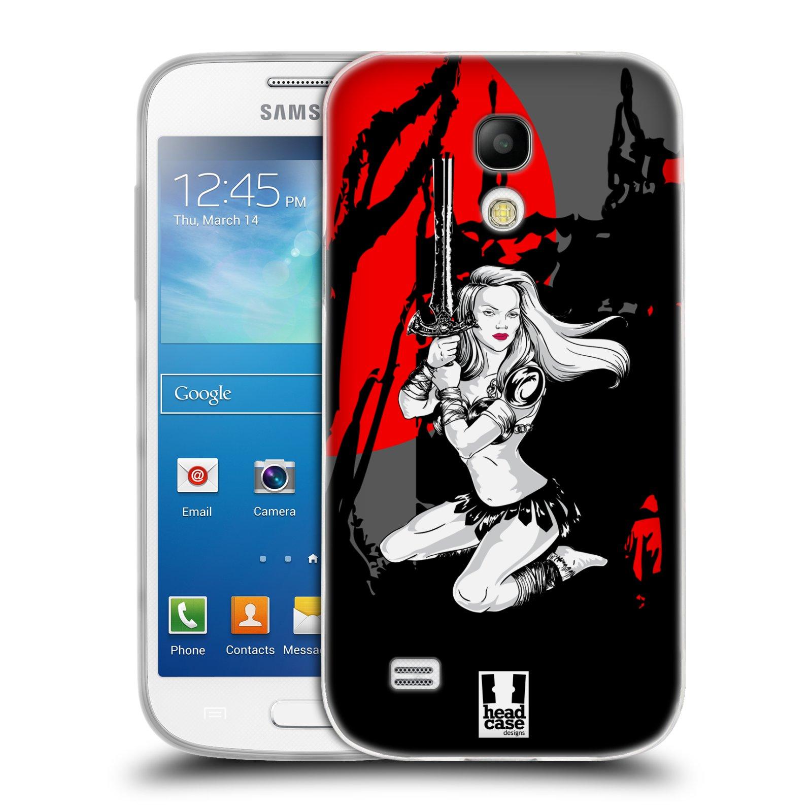 HEAD CASE silikonový obal na mobil Samsung Galaxy S4 MINI vzor Komixové bojovnice AMAZONKA