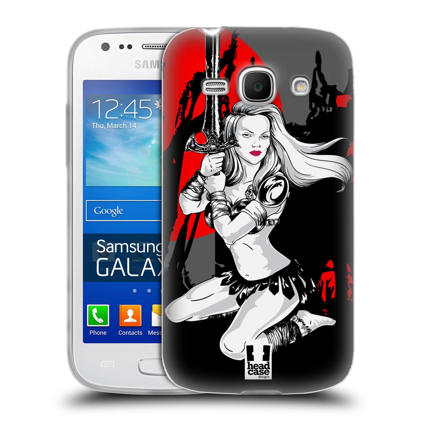 HEAD CASE silikonový obal na mobil Samsung Galaxy Ace 3 vzor Komixové bojovnice AMAZONKA