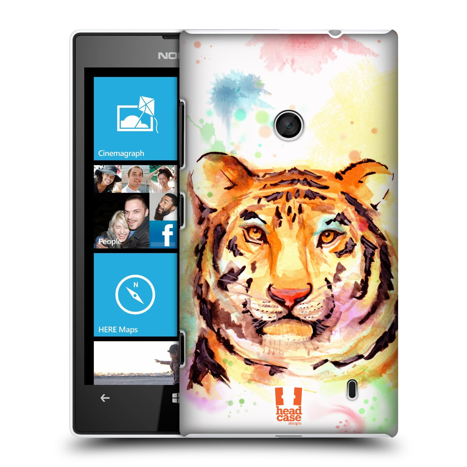 HEAD CASE DESIGNS WATERCOLOURED ANIMALS CASE COVER FOR NOKIA LUMIA 520