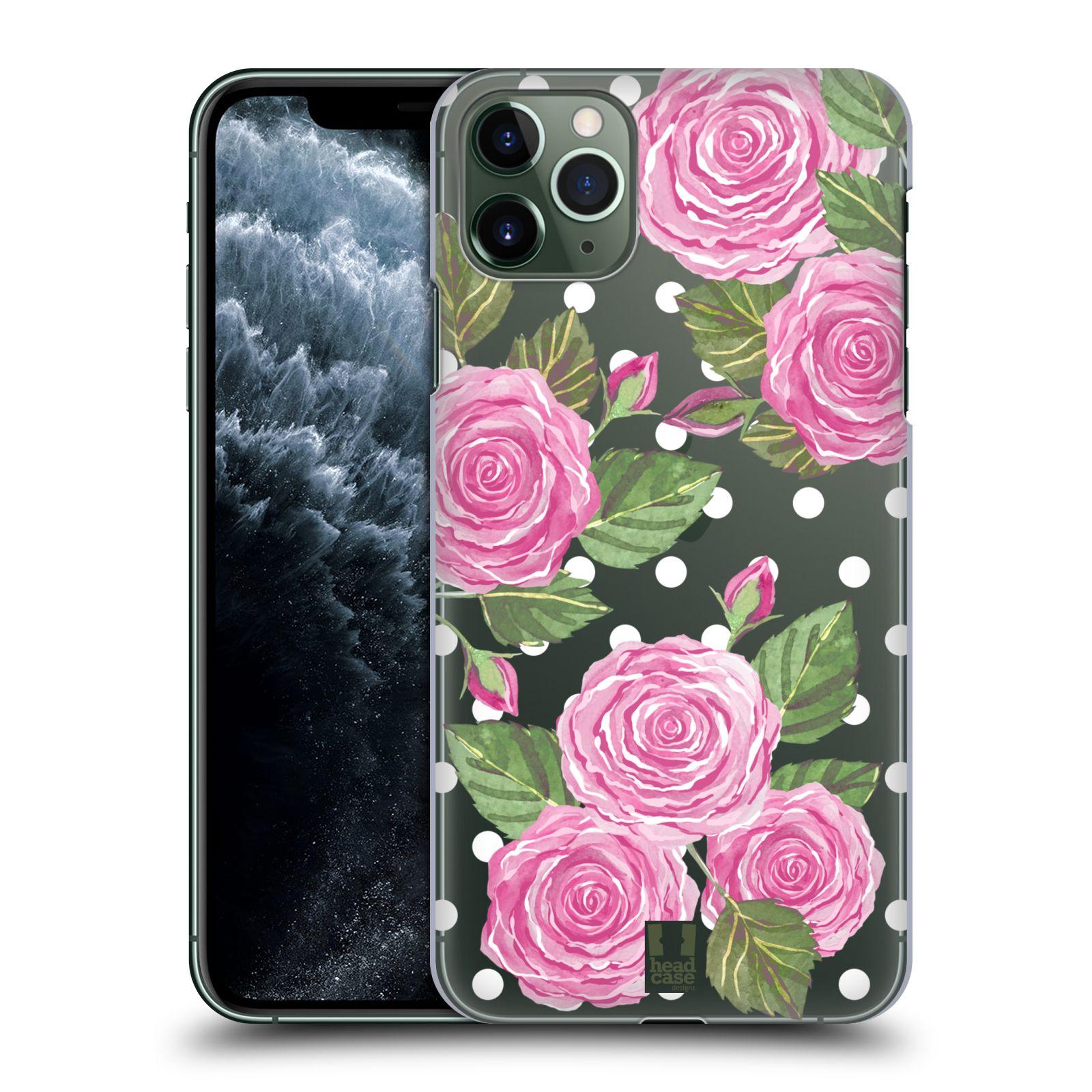 Pouzdro na mobil Apple Iphone 11 PRO MAX - HEAD CASE - Anglické růže růžová barva
