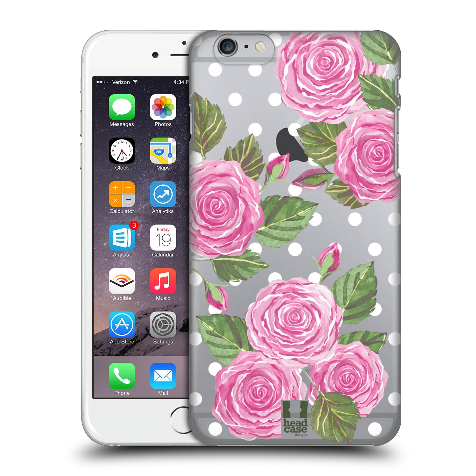 Plastové pouzdro pro mobil Apple Iphone 6 PLUS / 6S PLUS Anglické růže růžová barva