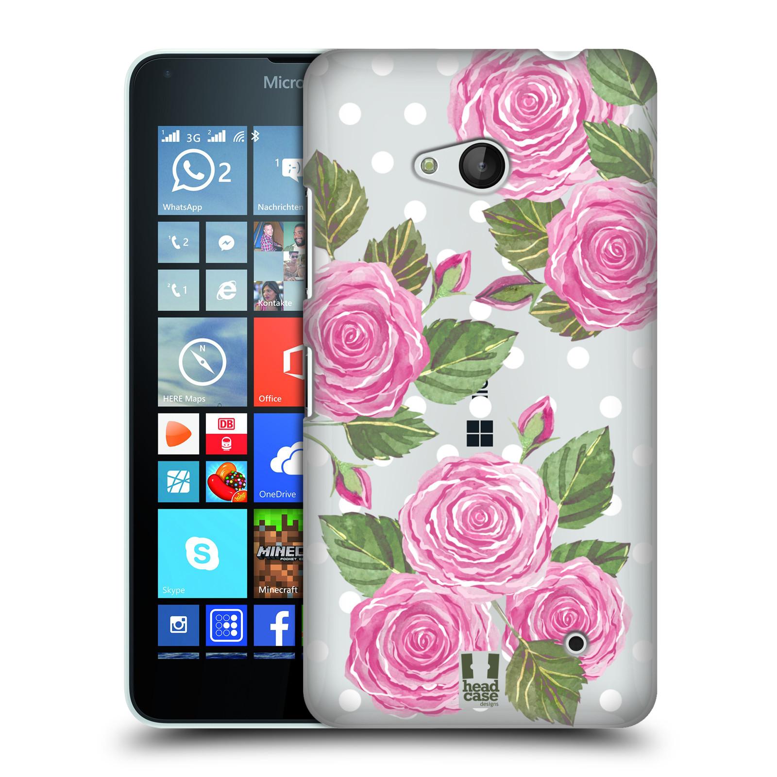 HEAD CASE plastový obal na mobil Nokia Lumia 640 Anglické růže růžová barva