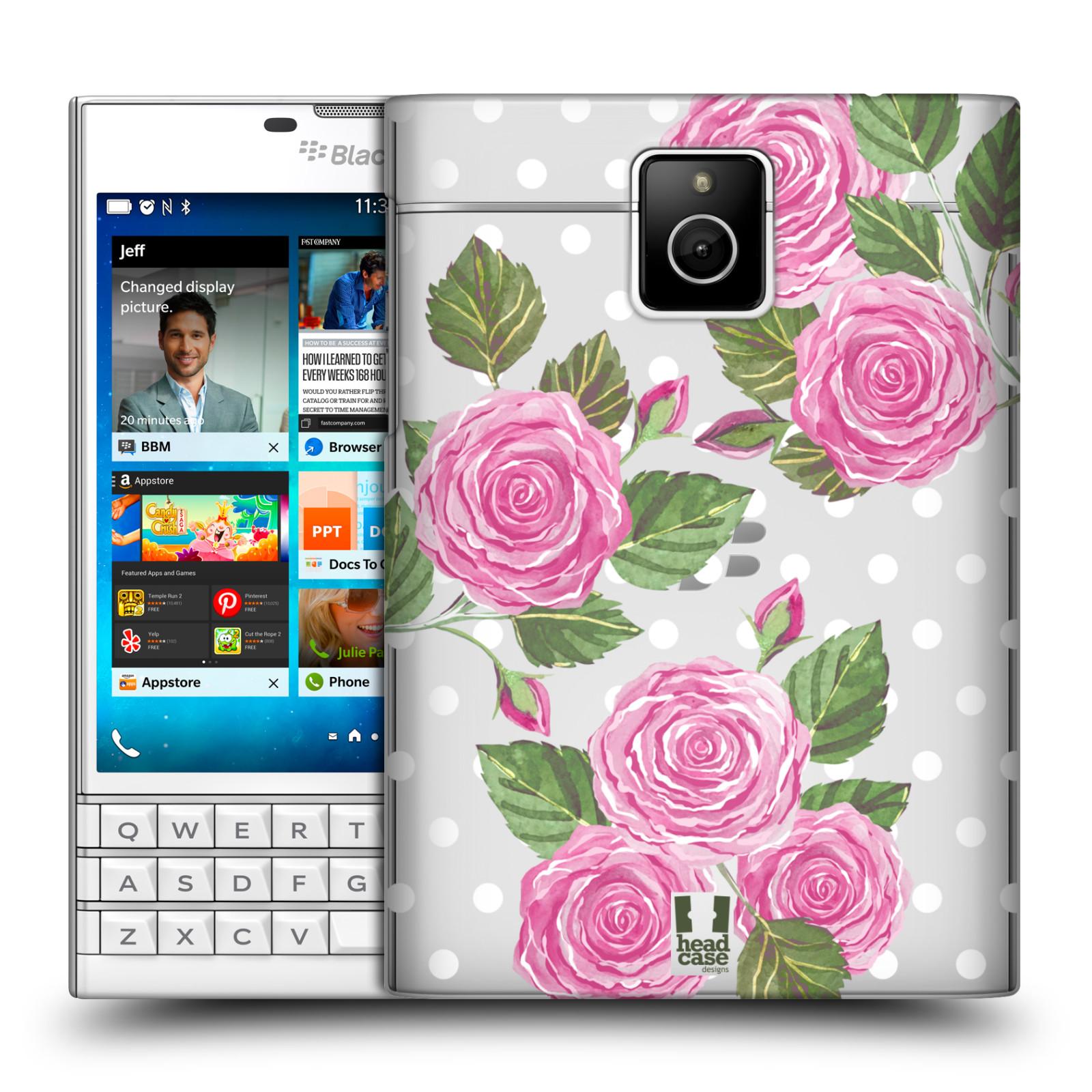 HEAD CASE plastový obal na mobil BlackBerry Passport Anglické růže růžová barva