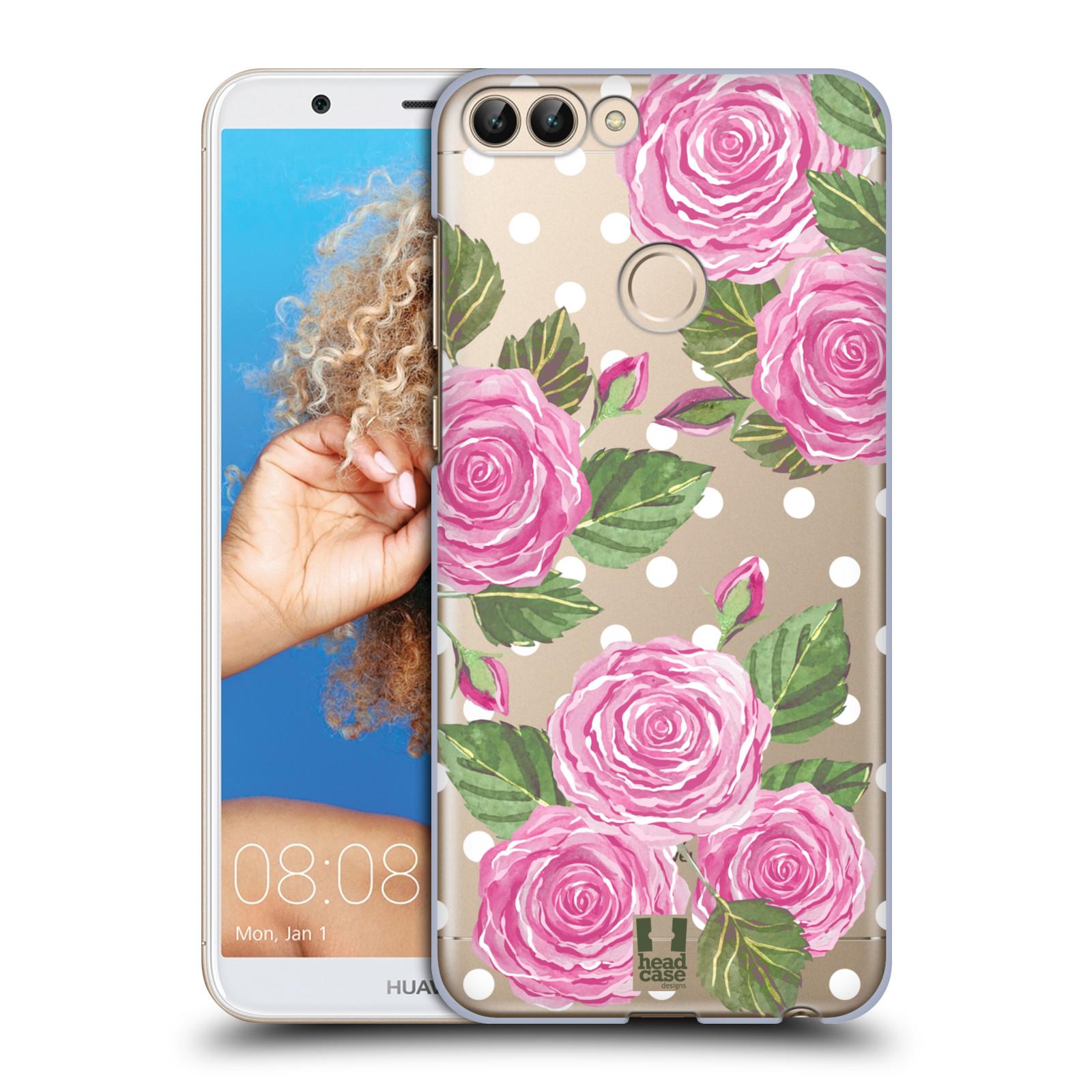 HEAD CASE plastový obal na mobil Huawei P Smart Anglické růže růžová barva