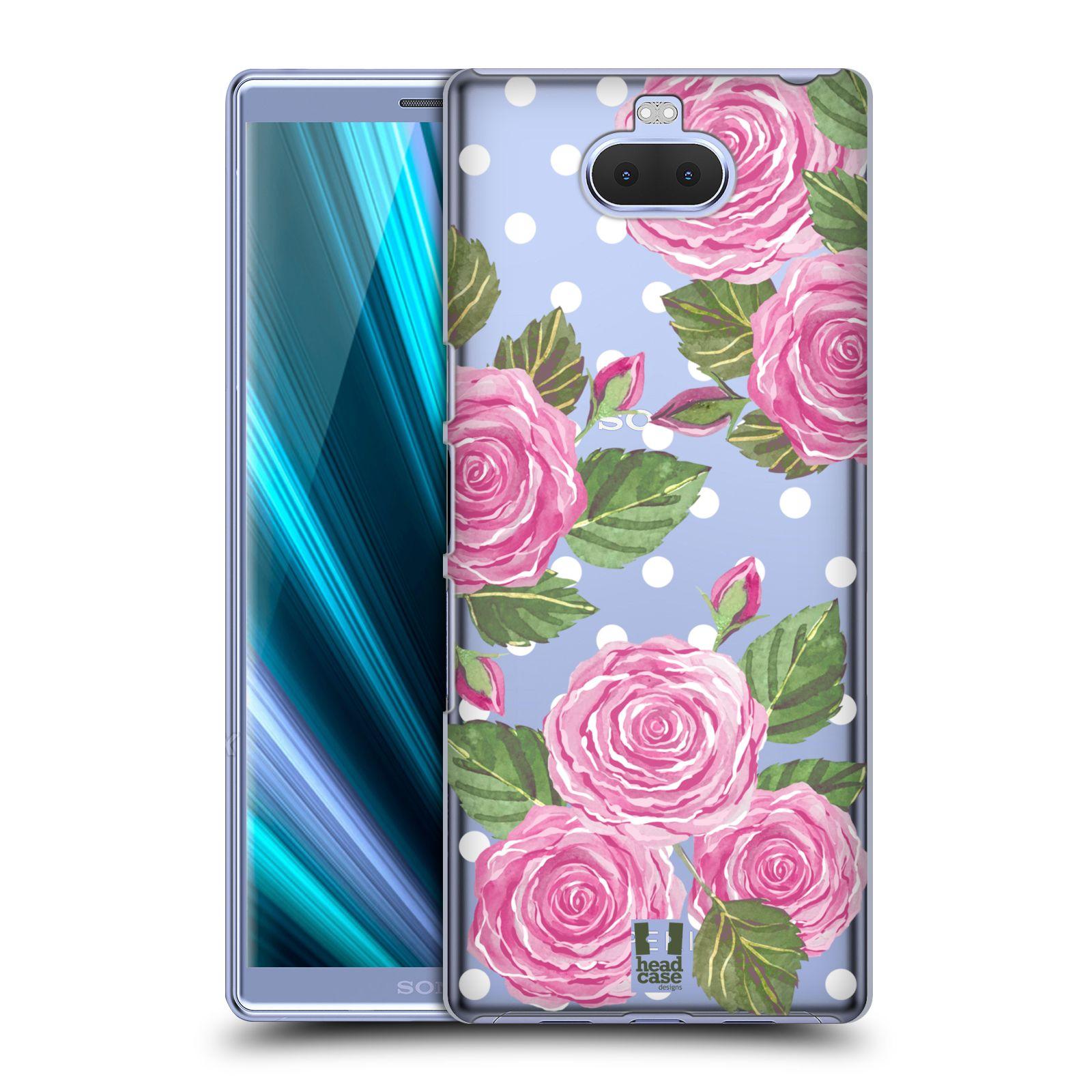Pouzdro na mobil Sony Xperia 10 - Head Case - Anglické růže růžová barva