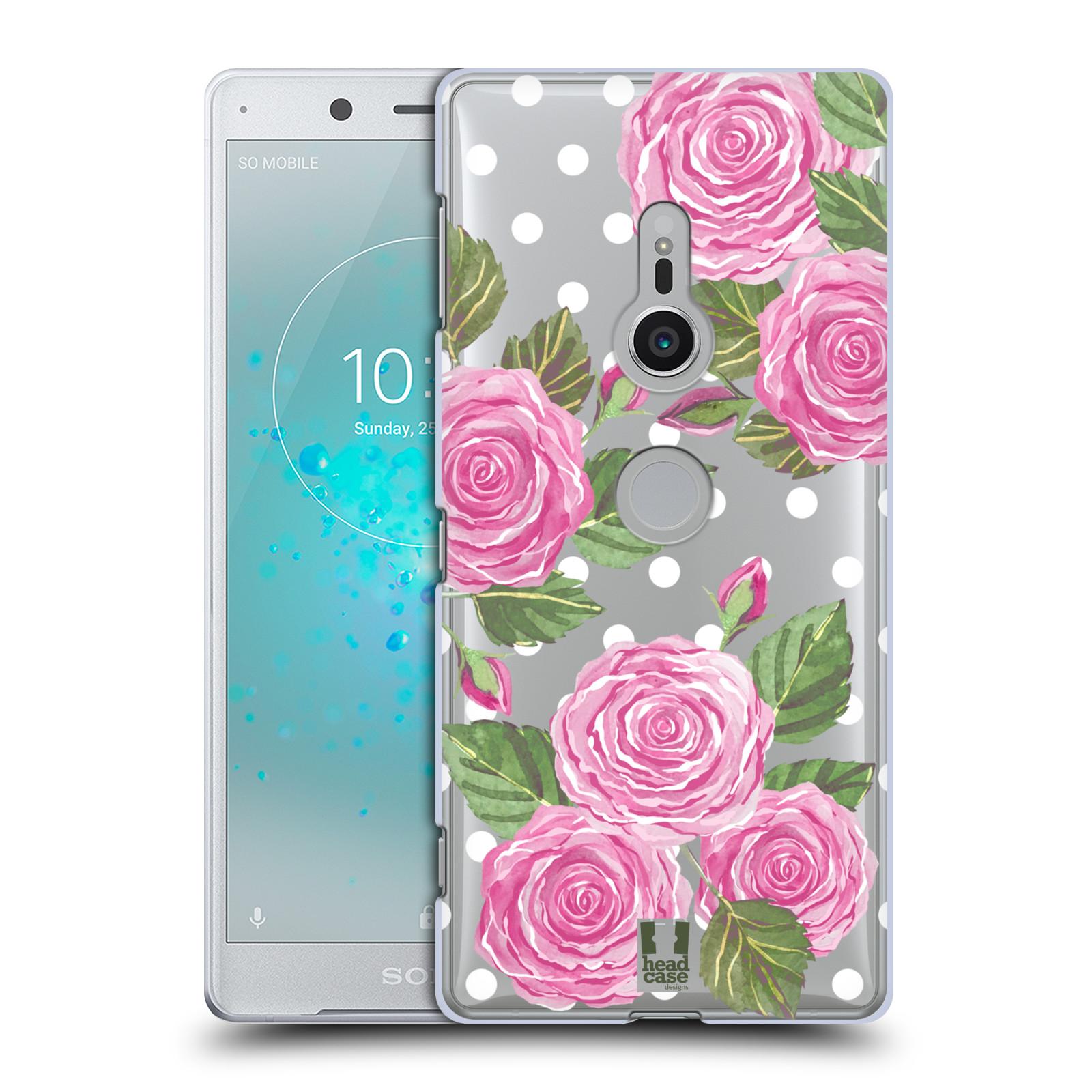 HEAD CASE plastový obal na mobil Sony Xperia XZ2 Anglické růže růžová barva