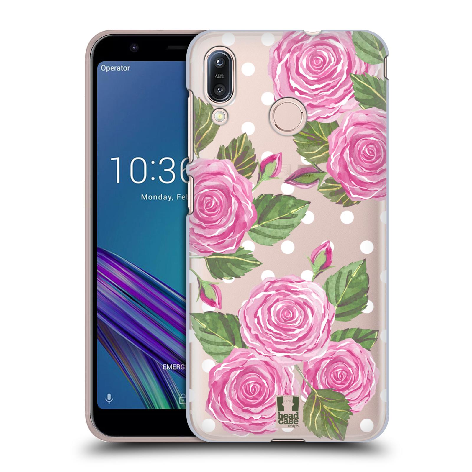 Pouzdro na mobil Asus Zenfone Max M1 (ZB555KL) - HEAD CASE - Anglické růže růžová barva
