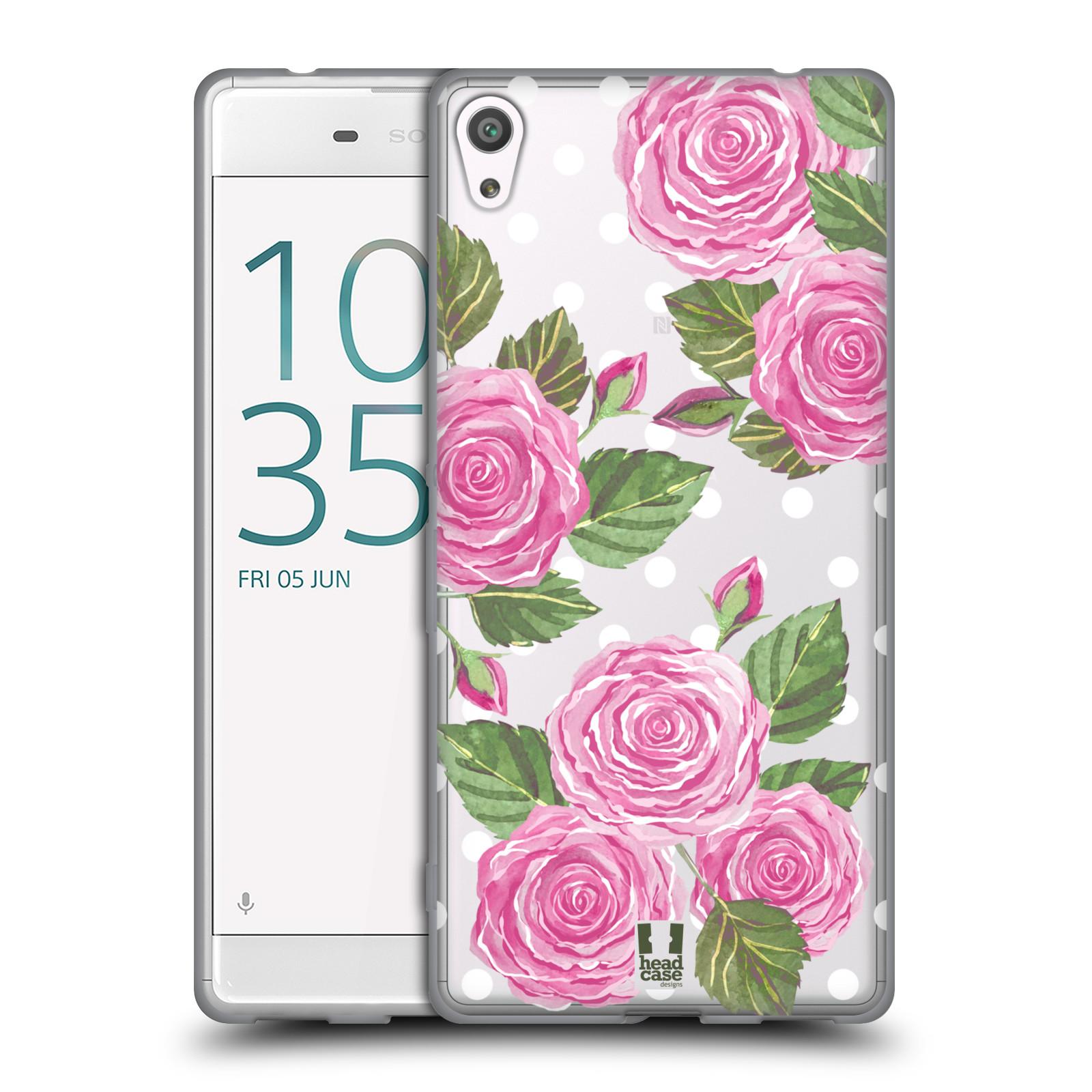 HEAD CASE silikonový obal na mobil Sony Xperia XA ULTRA Anglické růže růžová barva