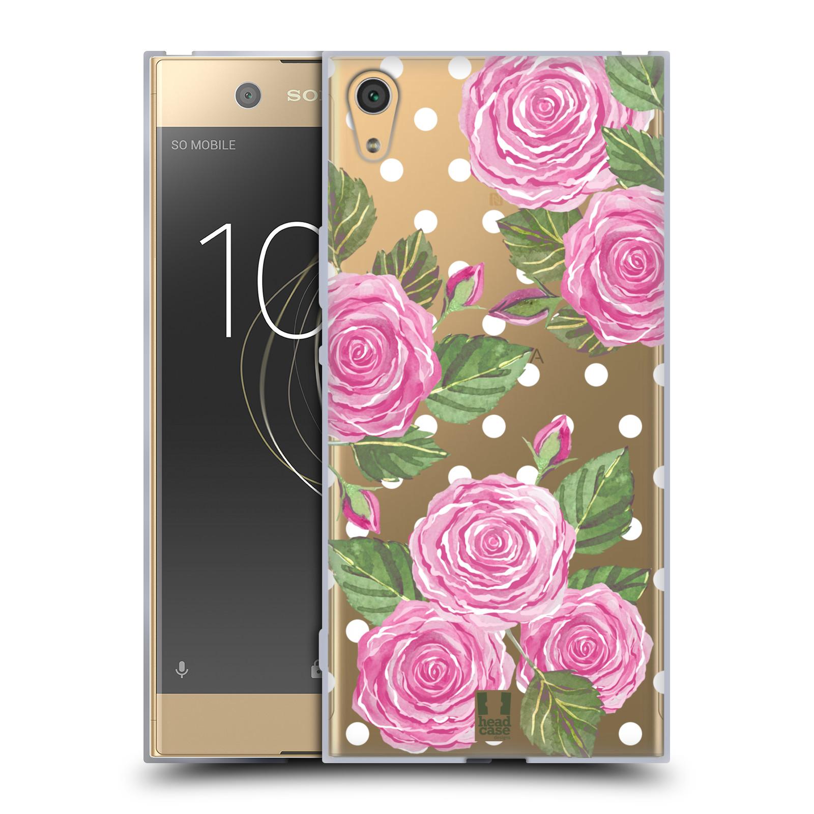 HEAD CASE silikonový obal na mobil Sony Xperia XA1 ULTRA Anglické růže růžová barva