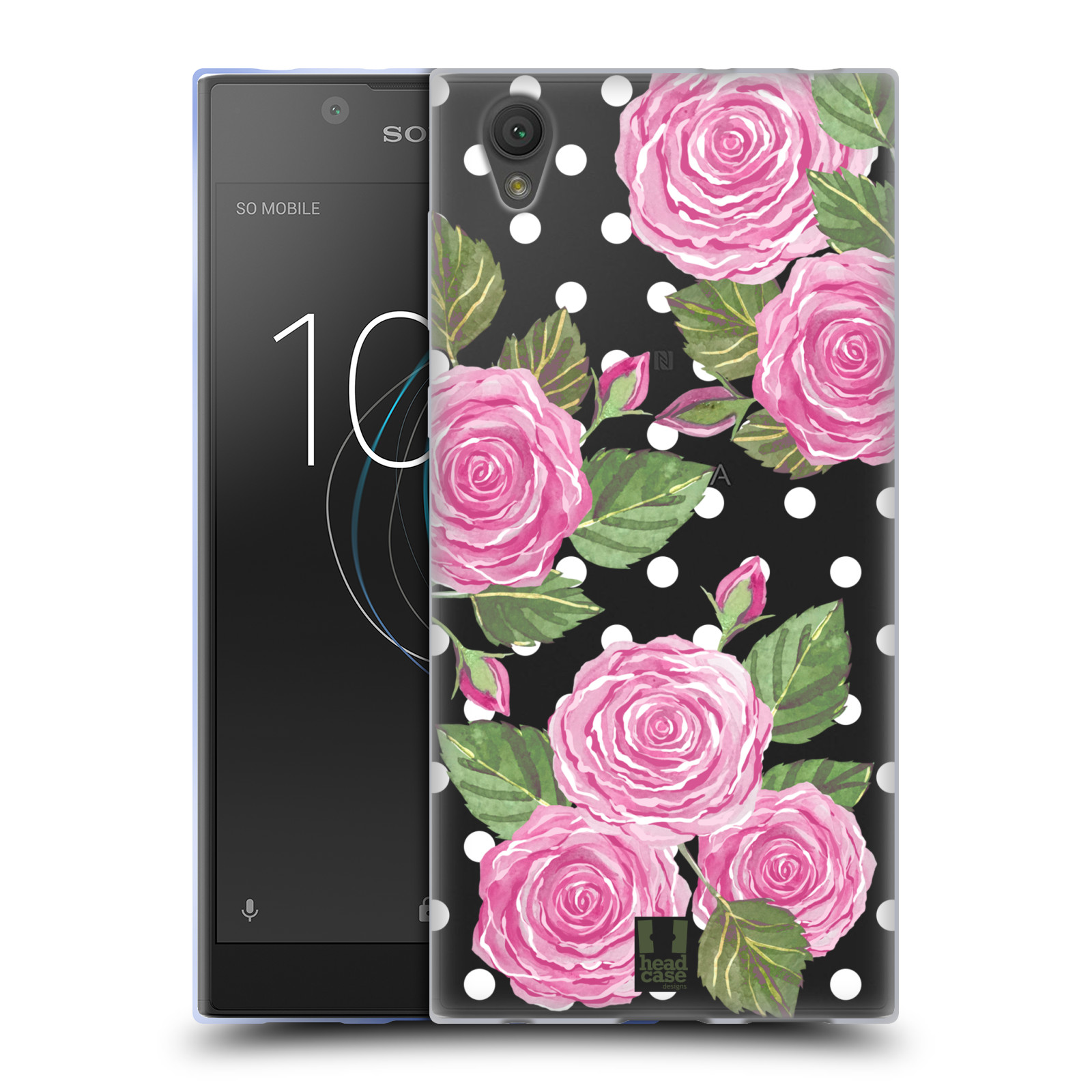 HEAD CASE silikonový obal na mobil Sony Xperia L1 Anglické růže růžová barva