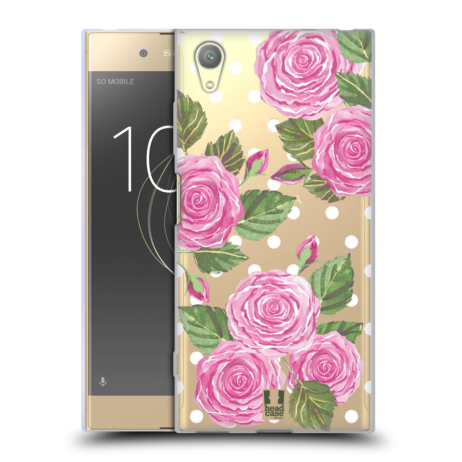 HEAD CASE silikonový obal na mobil Sony Xperia XA1 PLUS Anglické růže růžová barva