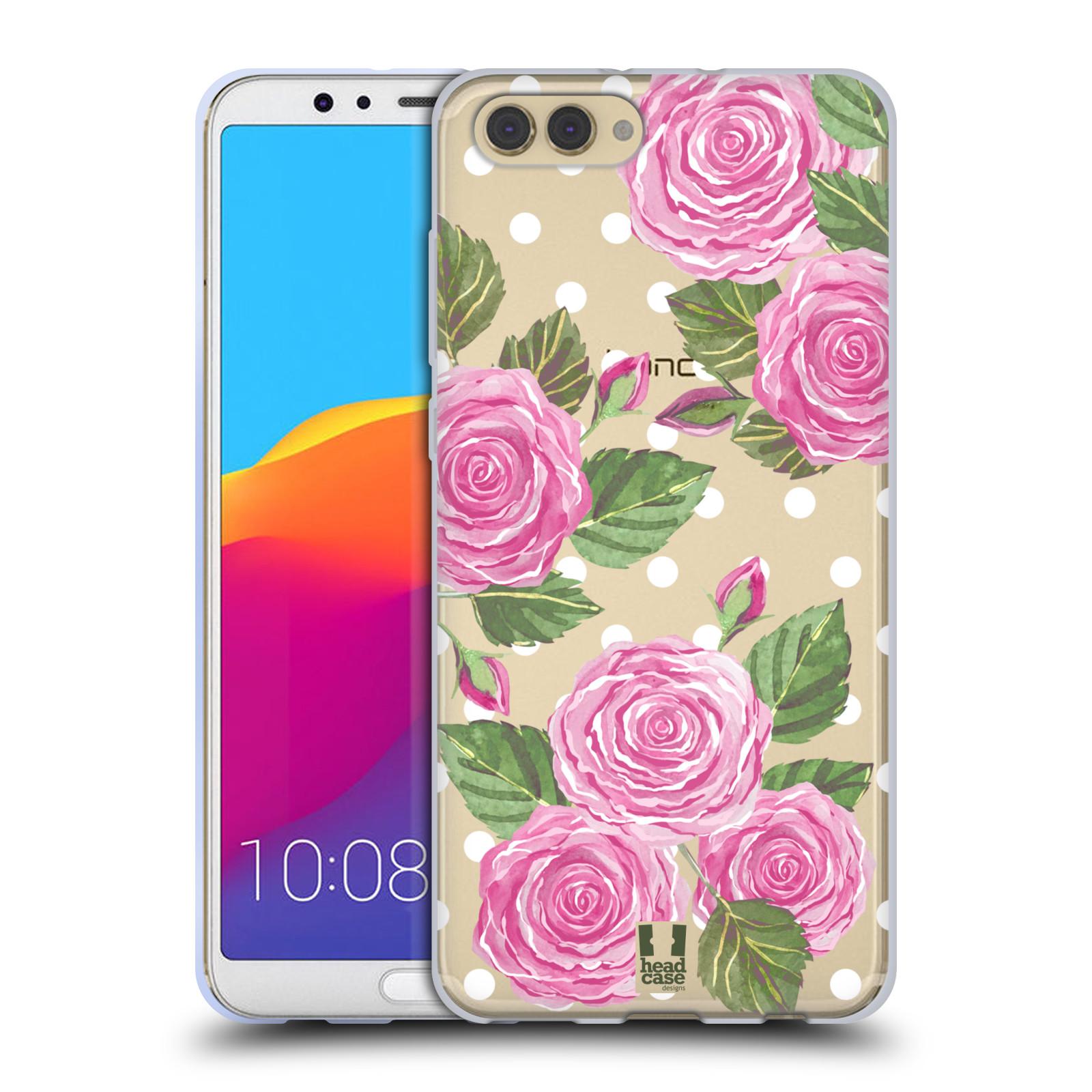 HEAD CASE silikonový obal na mobil Huawei HONOR VIEW 10 / V10 Anglické růže růžová barva