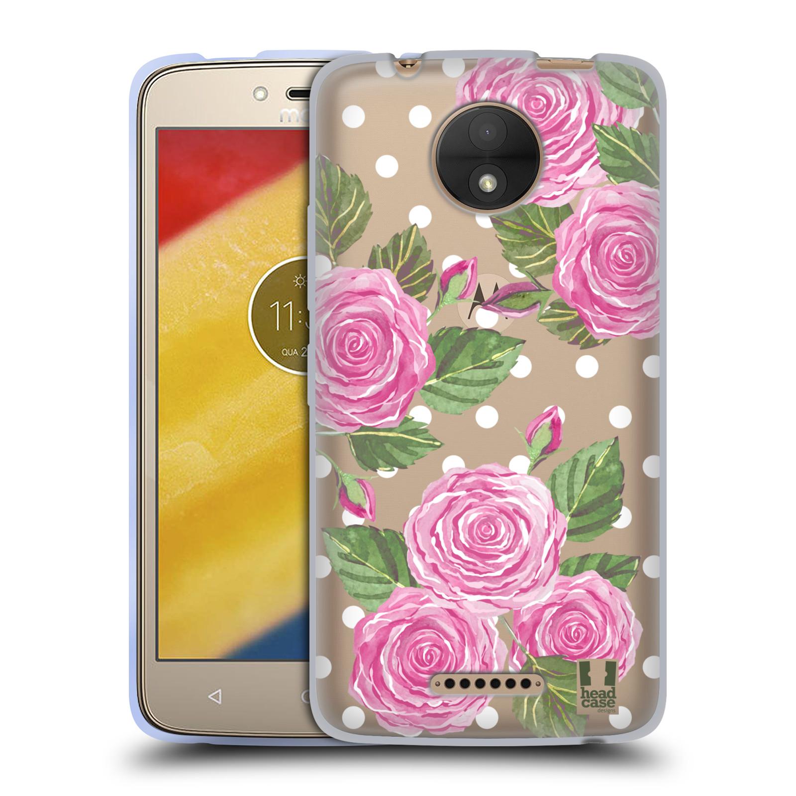 HEAD CASE silikonový obal na mobil Lenovo Moto C Anglické růže růžová barva