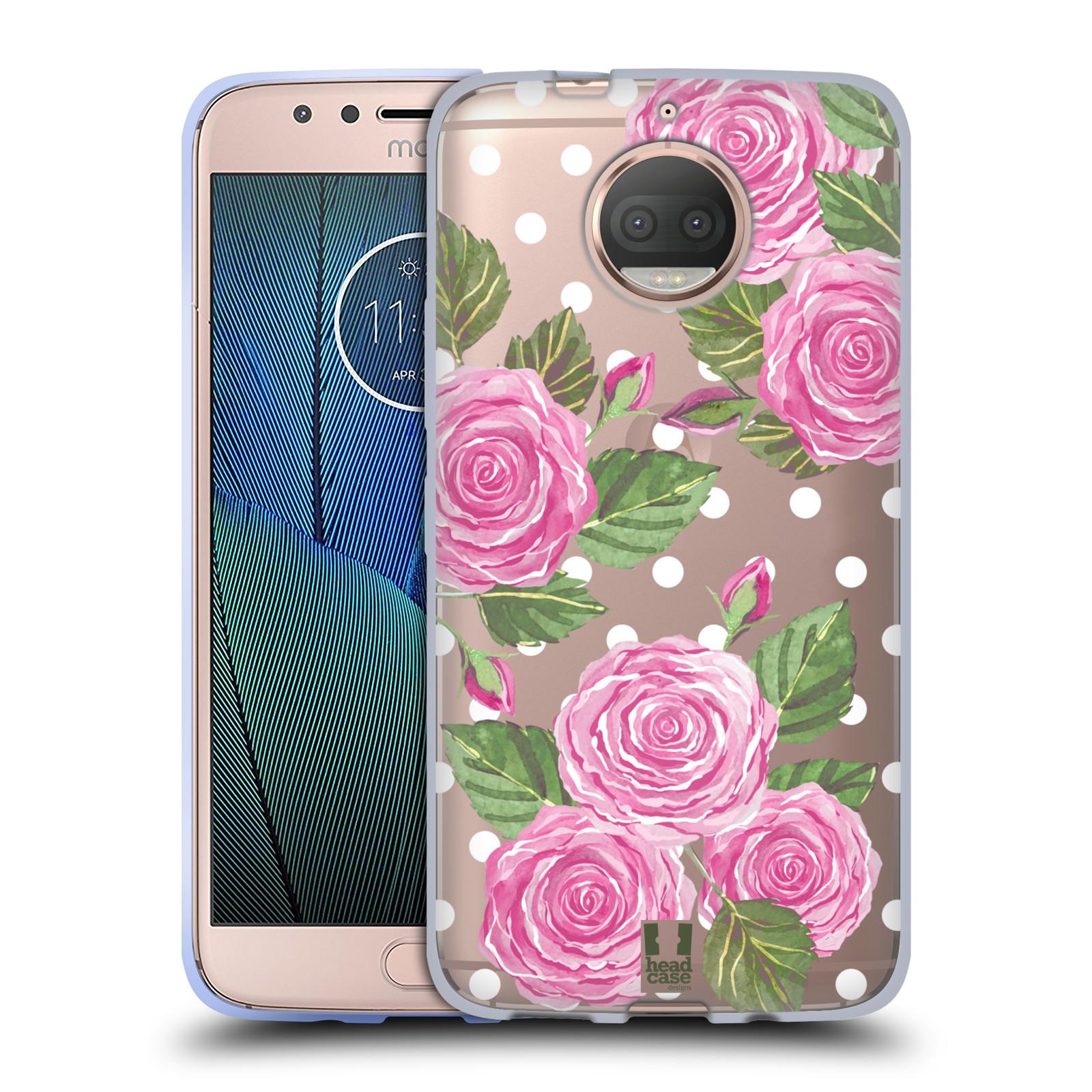HEAD CASE silikonový obal na mobil Lenovo Moto G5s PLUS Anglické růže růžová barva