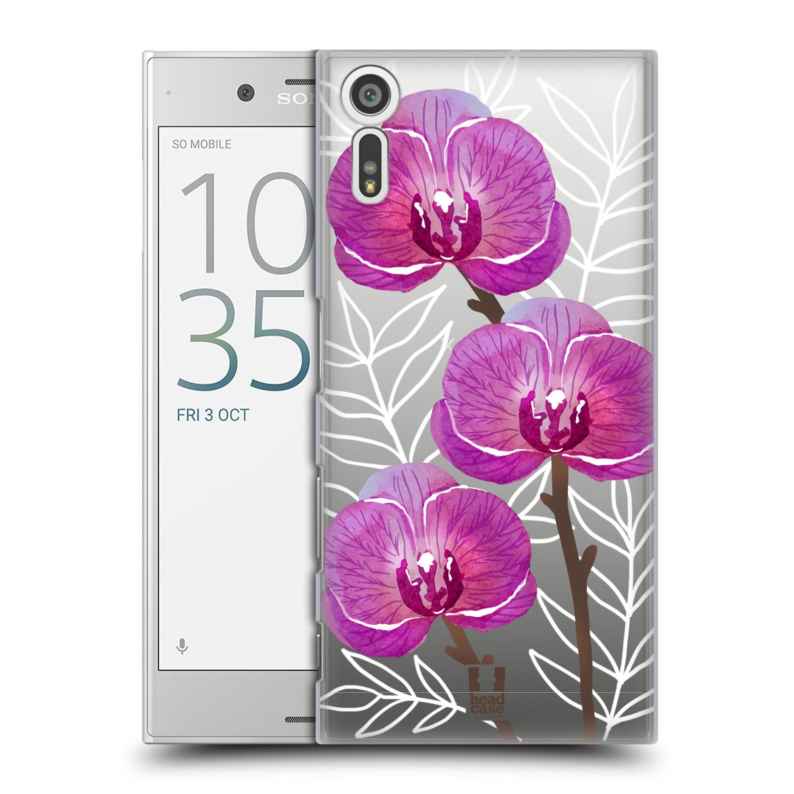 HEAD CASE plastový obal na mobil Sony Xperia XZ Orchideje fialová