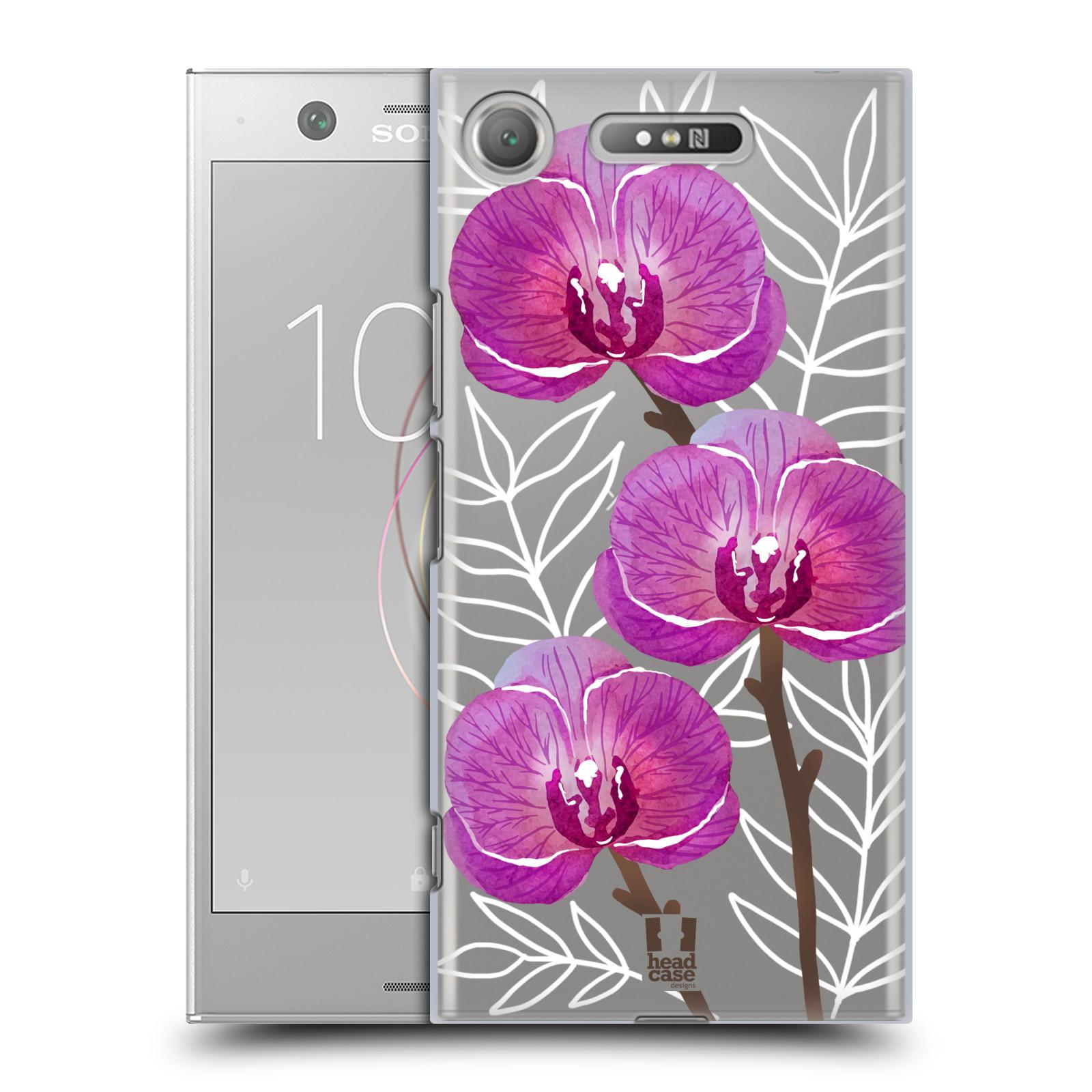 HEAD CASE plastový obal na mobil Sony Xperia XZ1 Orchideje fialová