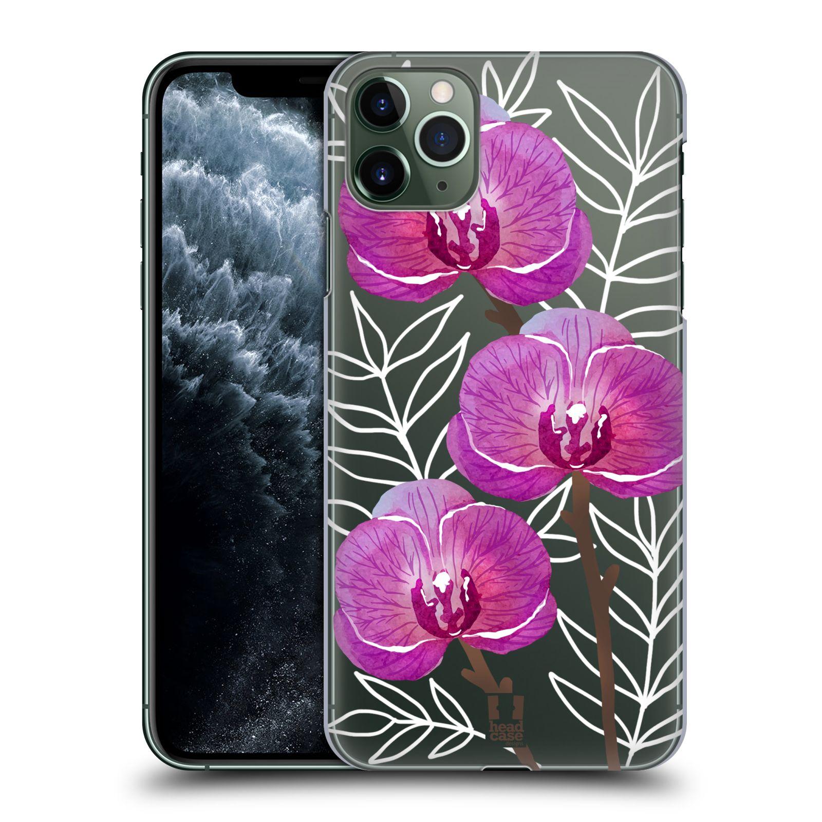 Pouzdro na mobil Apple Iphone 11 PRO MAX - HEAD CASE - Orchideje fialová