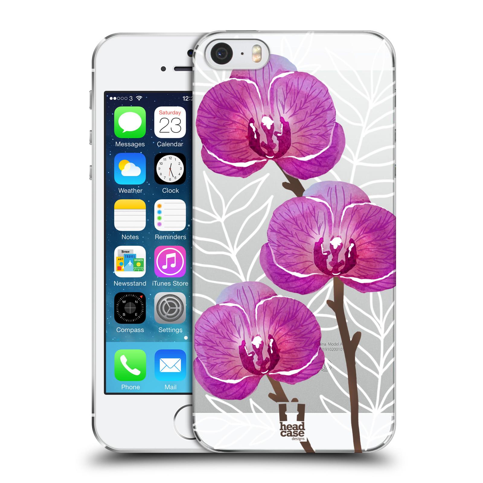 Plastové pouzdro pro mobil Apple Iphone 5 / 5S / SE Orchideje fialová