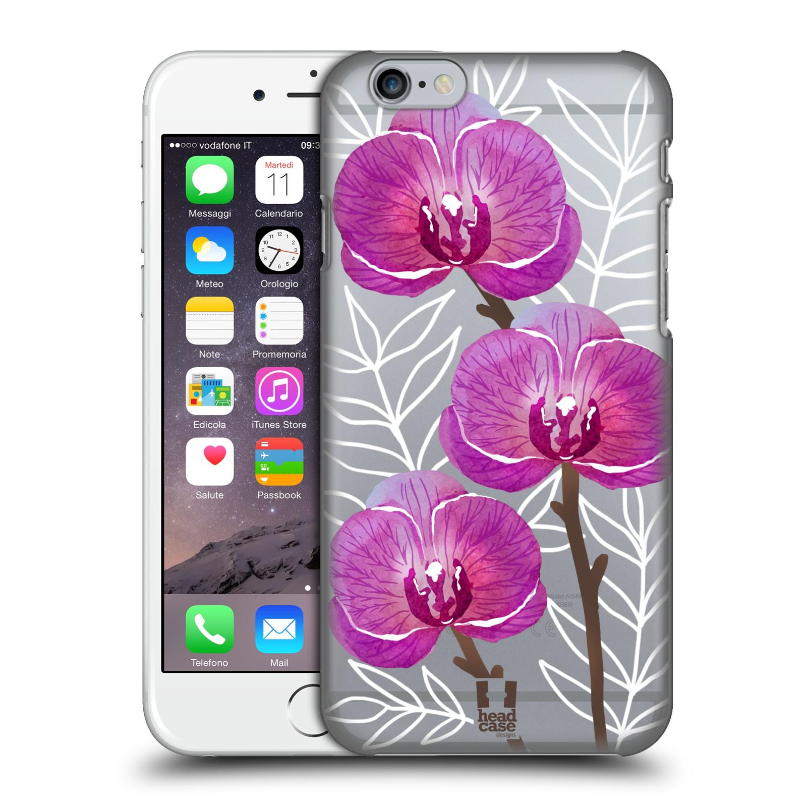 Plastové pouzdro pro mobil Apple Iphone 6/6S Orchideje fialová