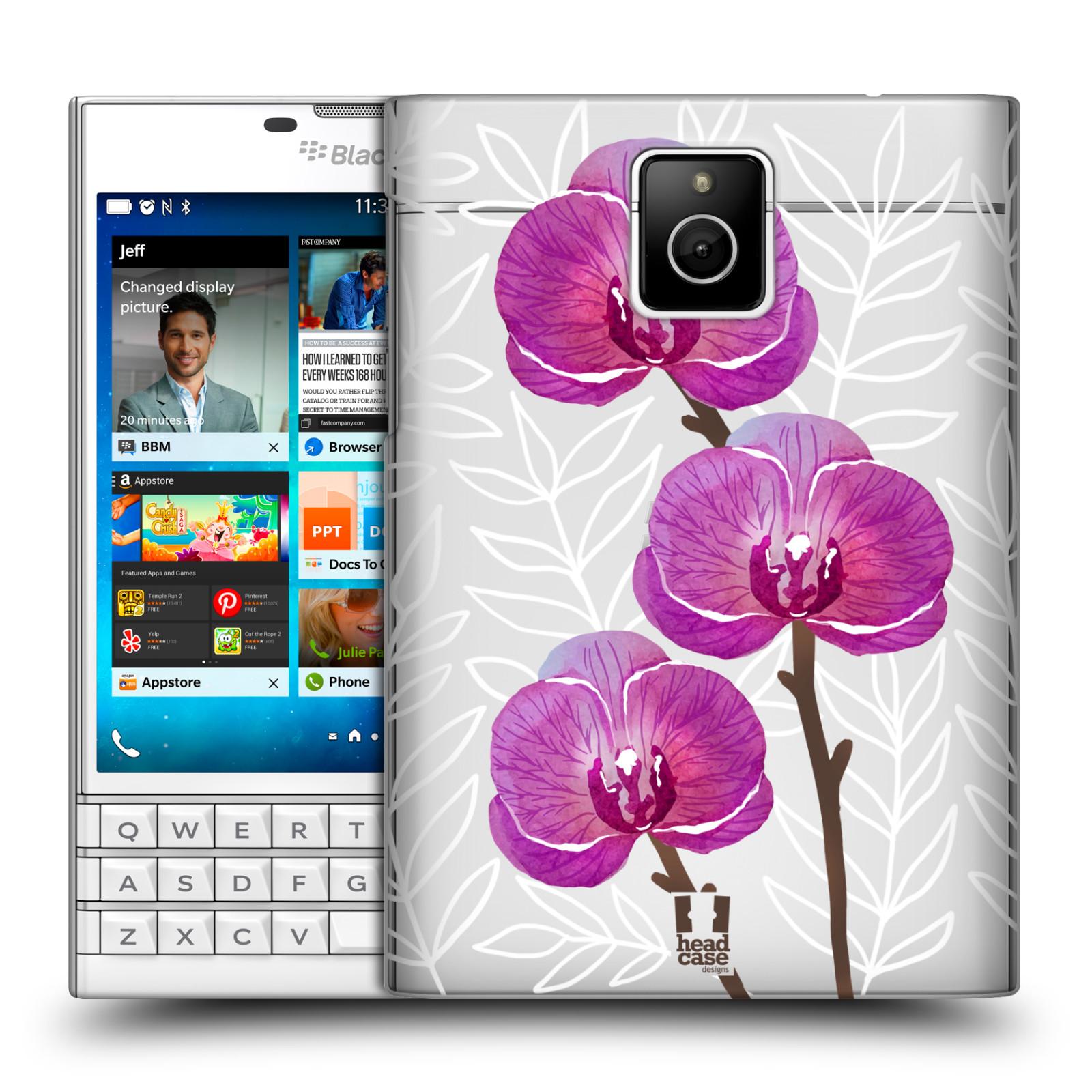 HEAD CASE plastový obal na mobil BlackBerry Passport Orchideje fialová