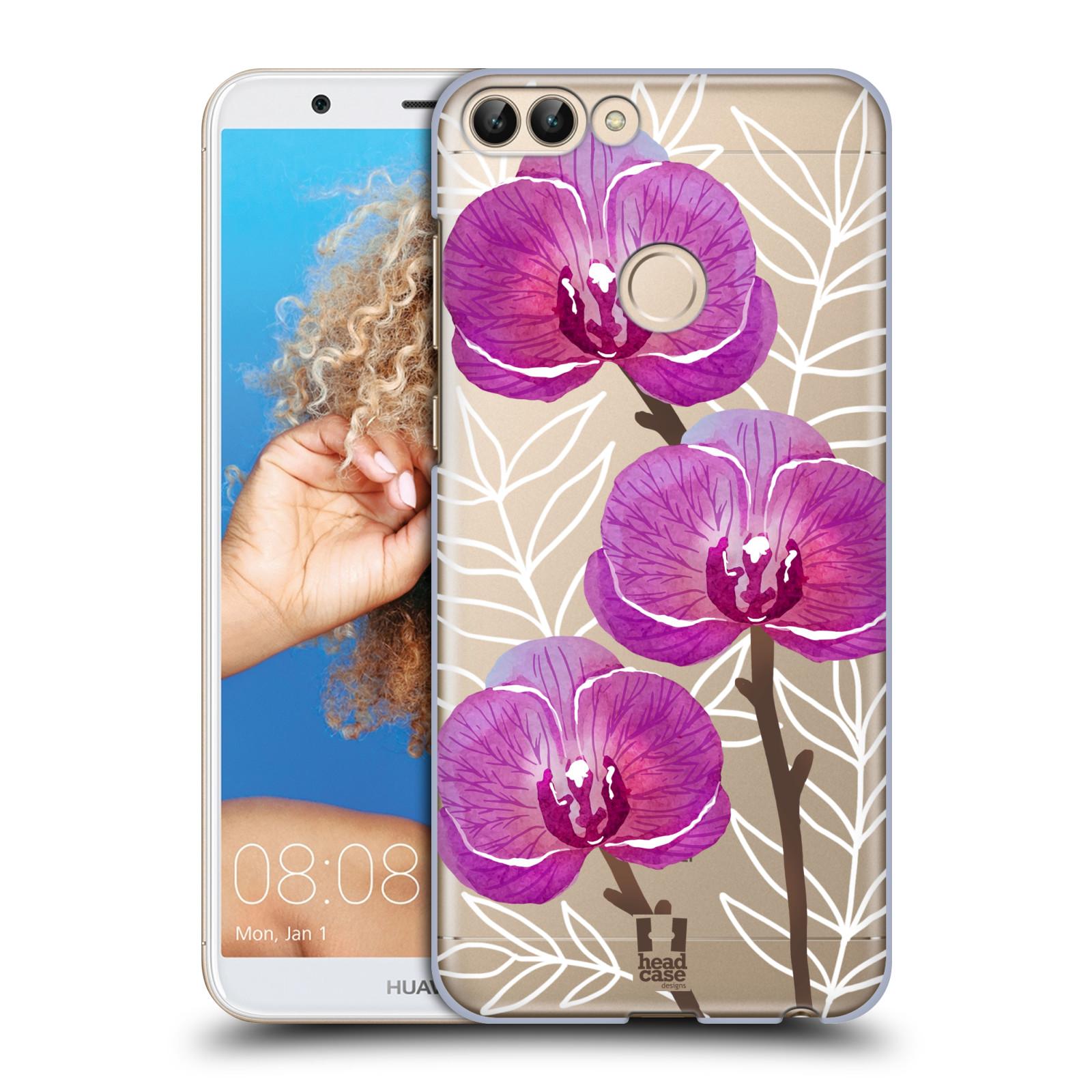 HEAD CASE plastový obal na mobil Huawei P Smart Orchideje fialová