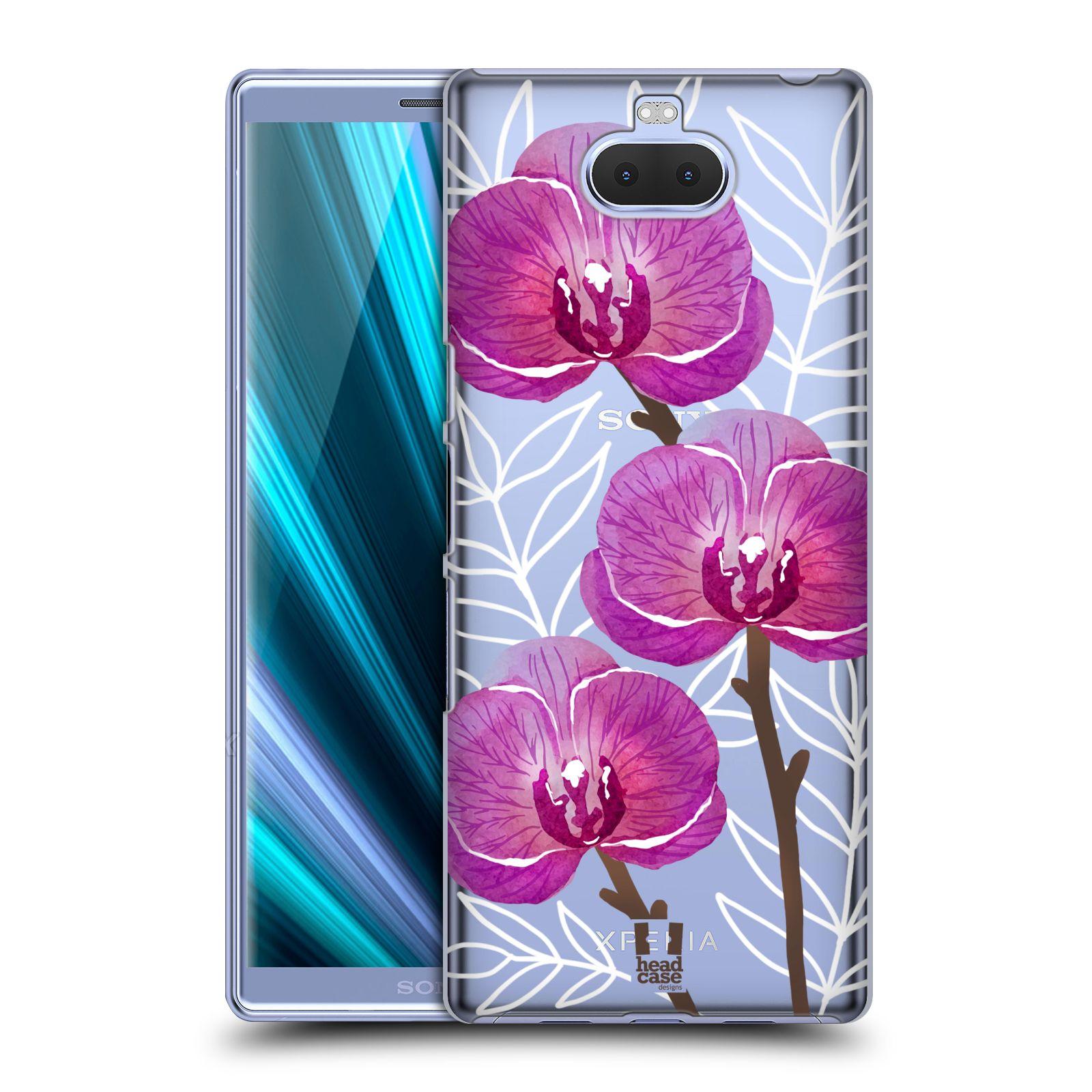 Pouzdro na mobil Sony Xperia 10 - Head Case - Orchideje fialová