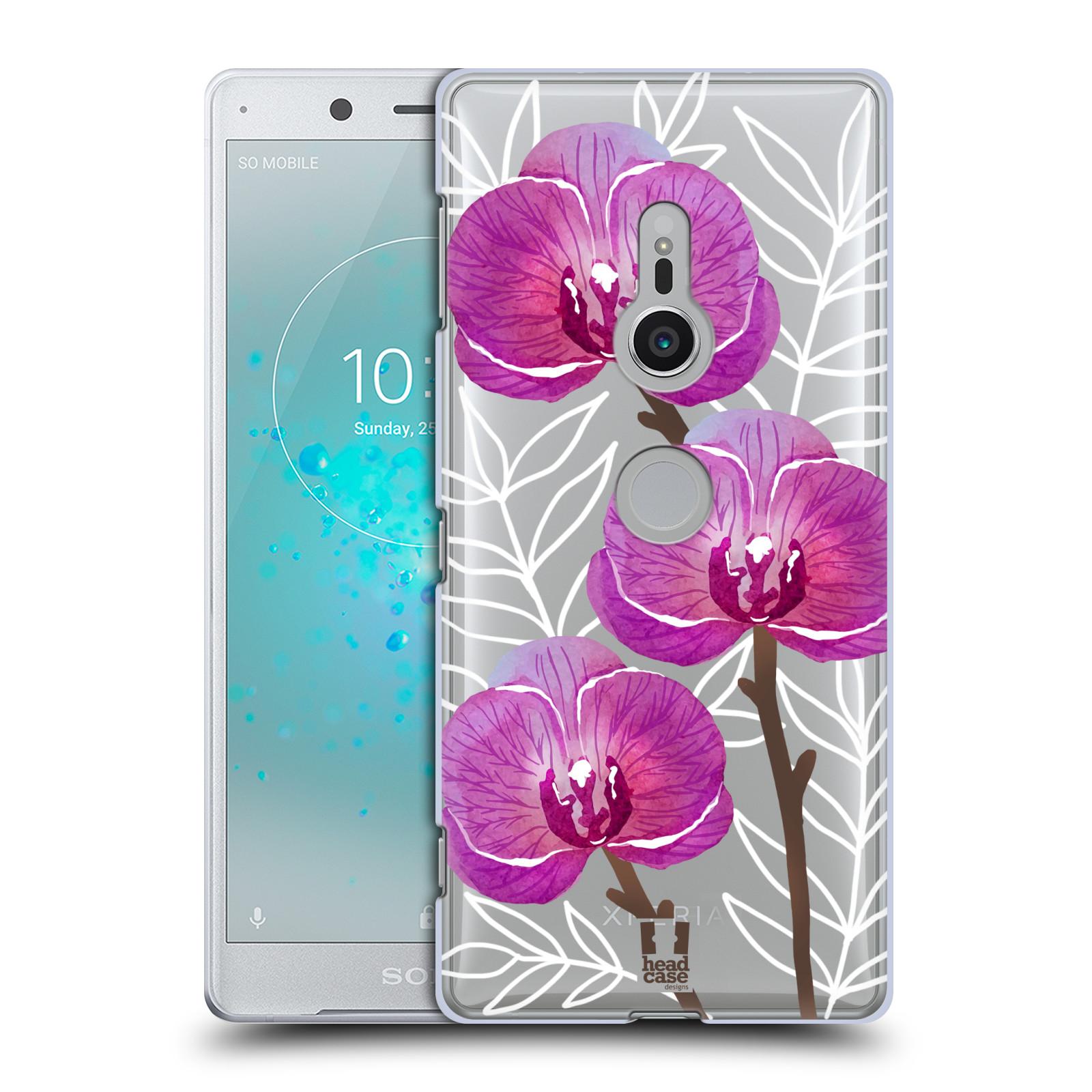 HEAD CASE plastový obal na mobil Sony Xperia XZ2 Orchideje fialová