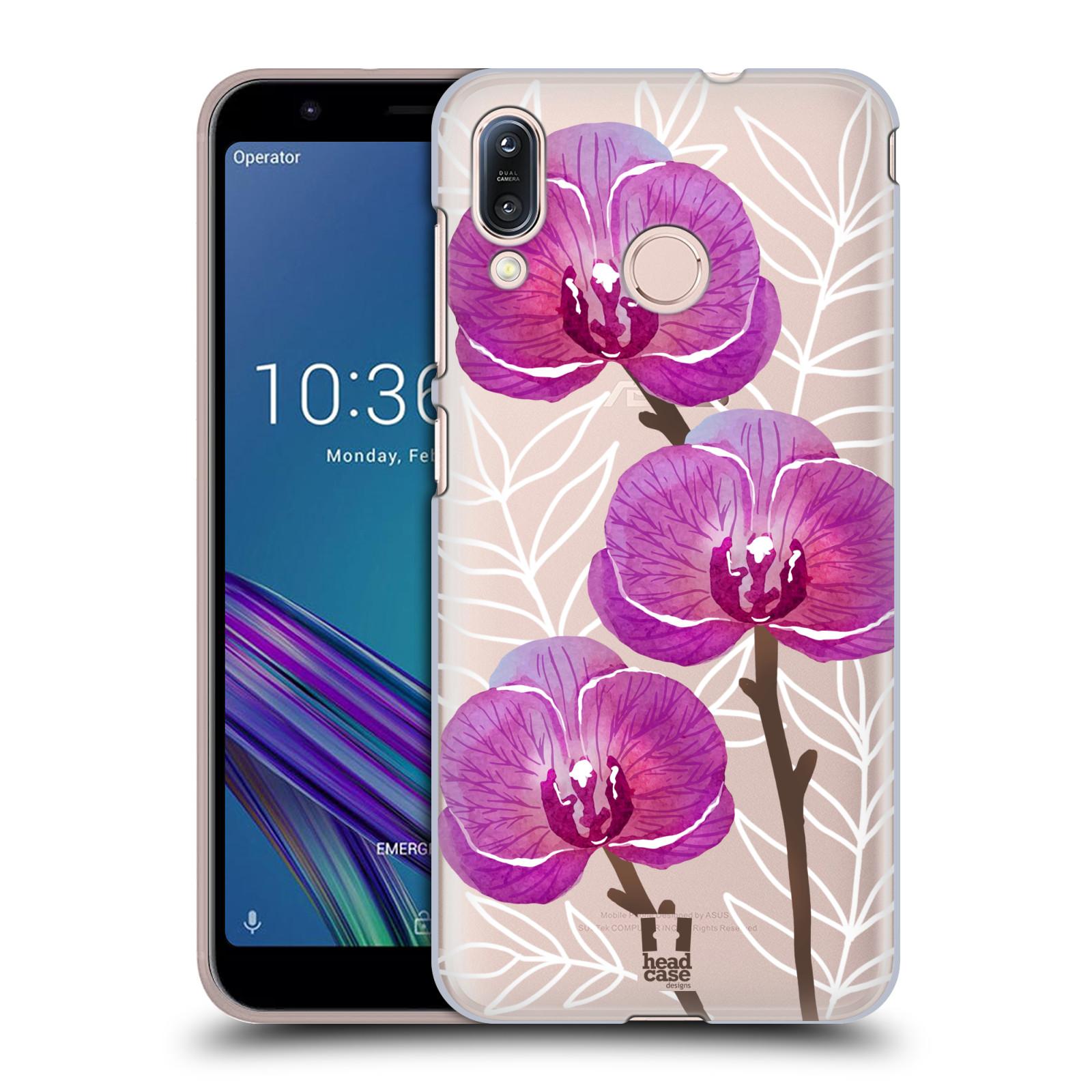 Pouzdro na mobil Asus Zenfone Max M1 (ZB555KL) - HEAD CASE - Orchideje fialová