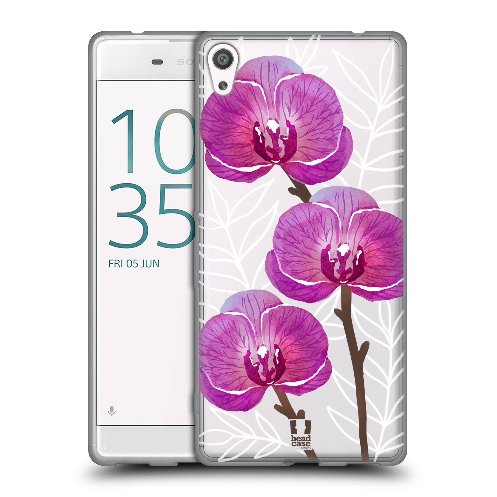 HEAD CASE silikonový obal na mobil Sony Xperia XA ULTRA Orchideje fialová