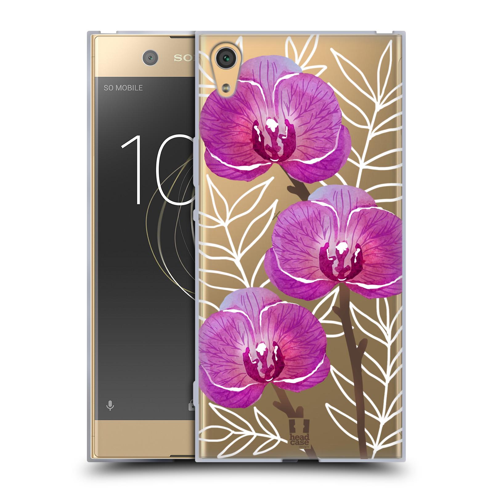HEAD CASE silikonový obal na mobil Sony Xperia XA1 ULTRA Orchideje fialová