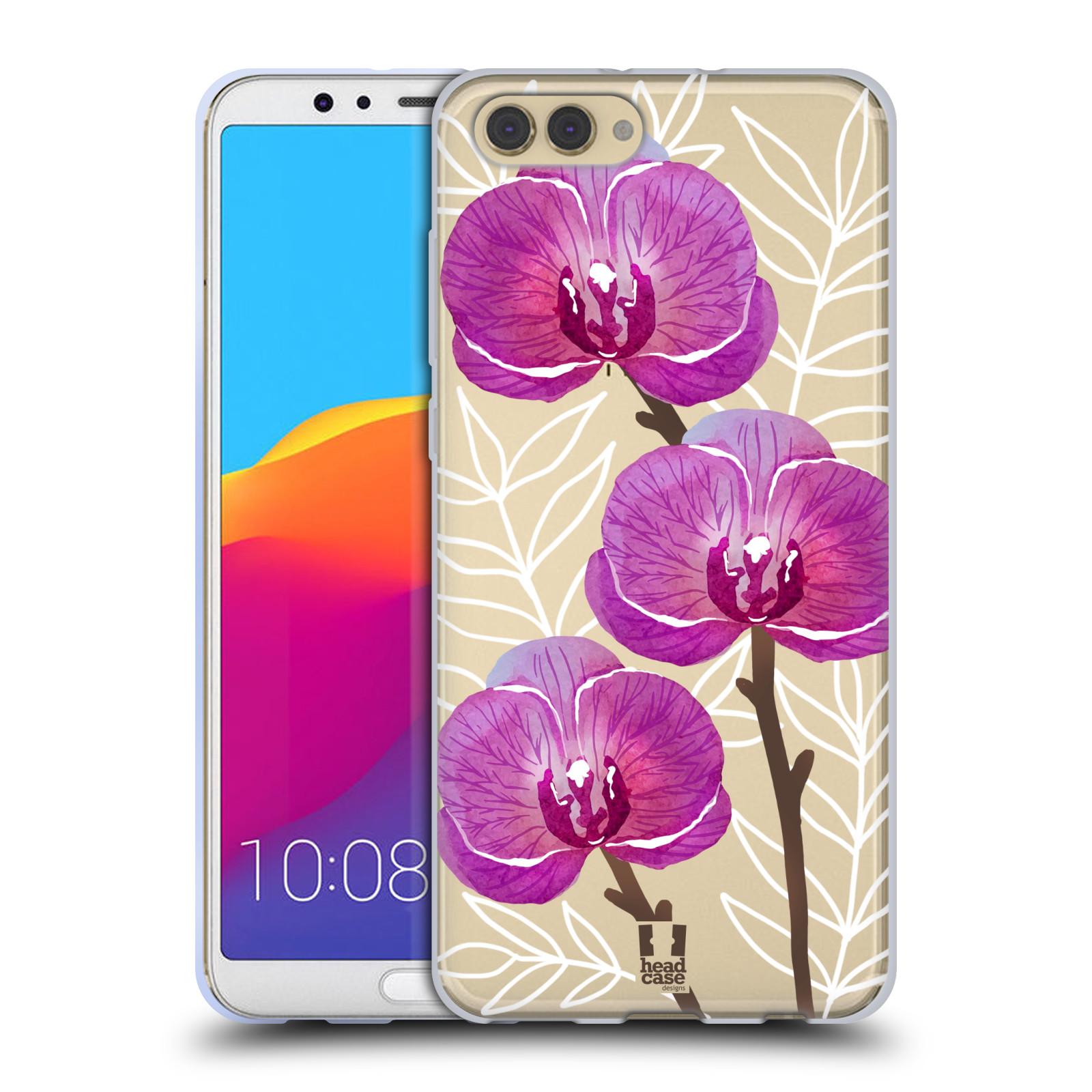 HEAD CASE silikonový obal na mobil Huawei HONOR VIEW 10 / V10 Orchideje fialová