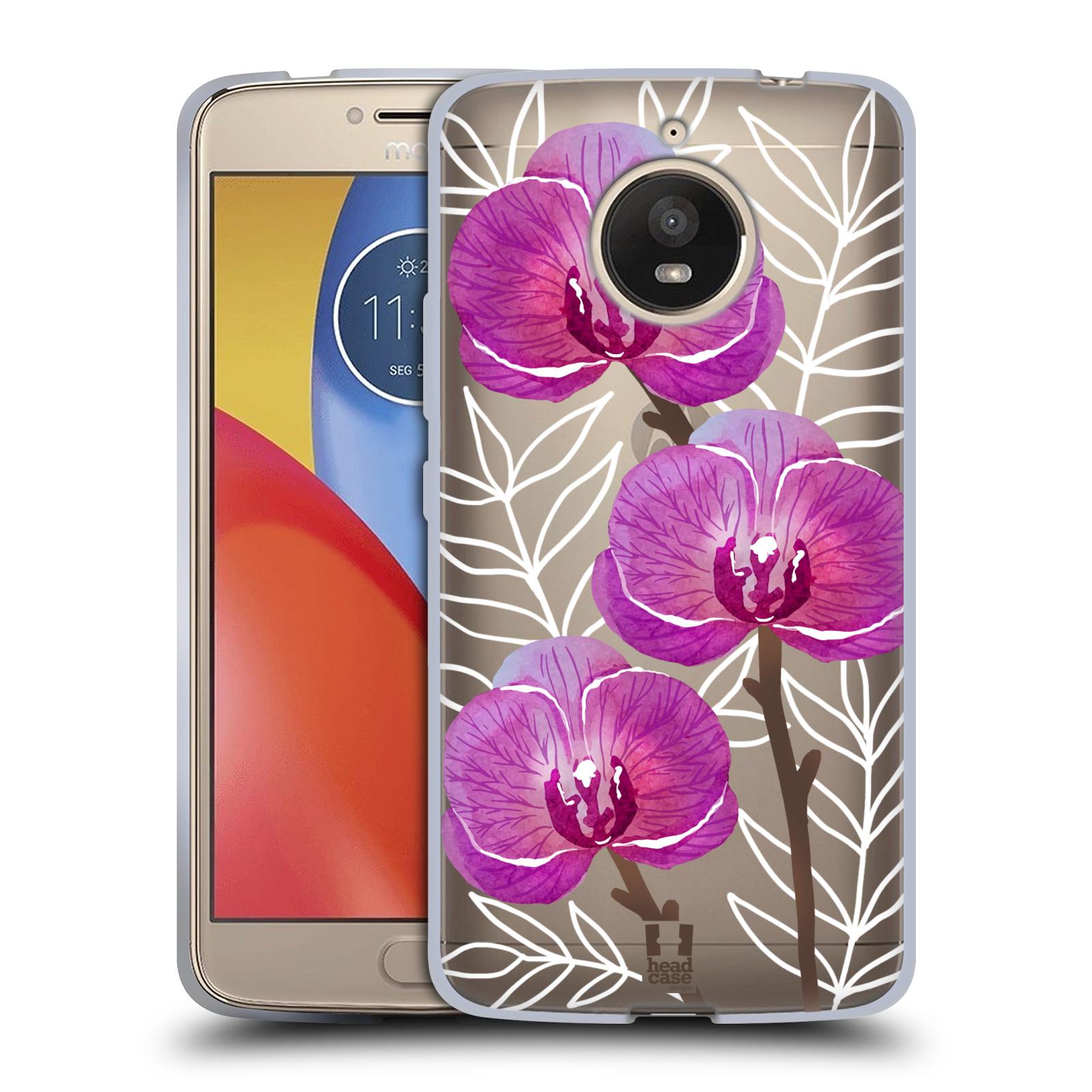 7ab636bff HEAD CASE silikonový obal na mobil Lenovo Moto E4 PLUS Orchideje fialová