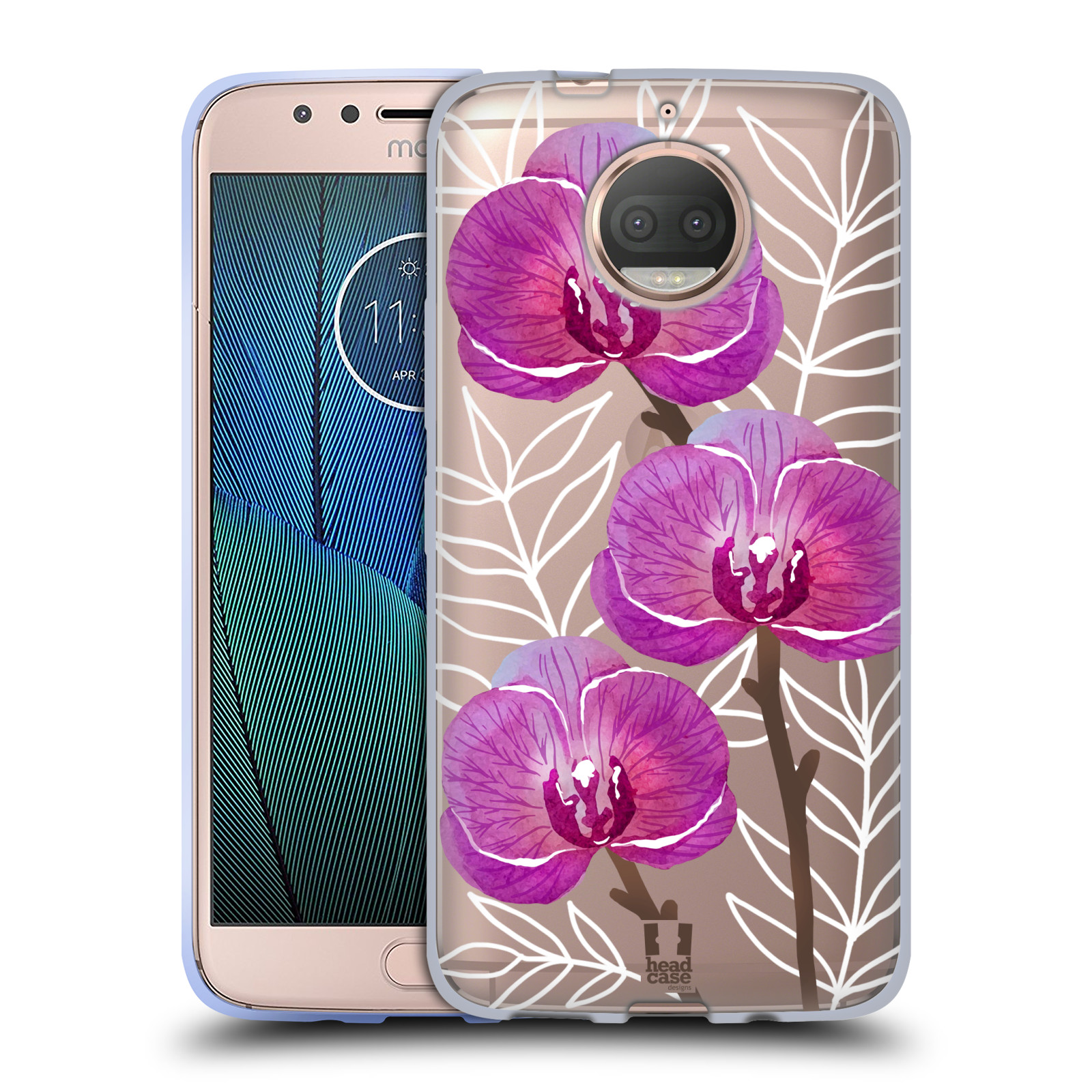 HEAD CASE silikonový obal na mobil Lenovo Moto G5s PLUS Orchideje fialová