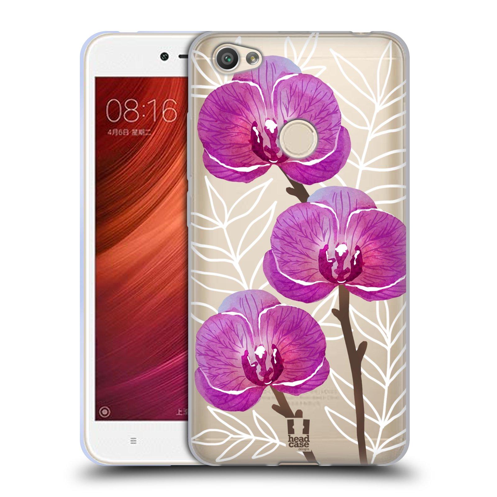 9e6c9e8767a HEAD CASE silikonový obal na mobil Xiaomi Redmi Note 5A Orchideje fialová