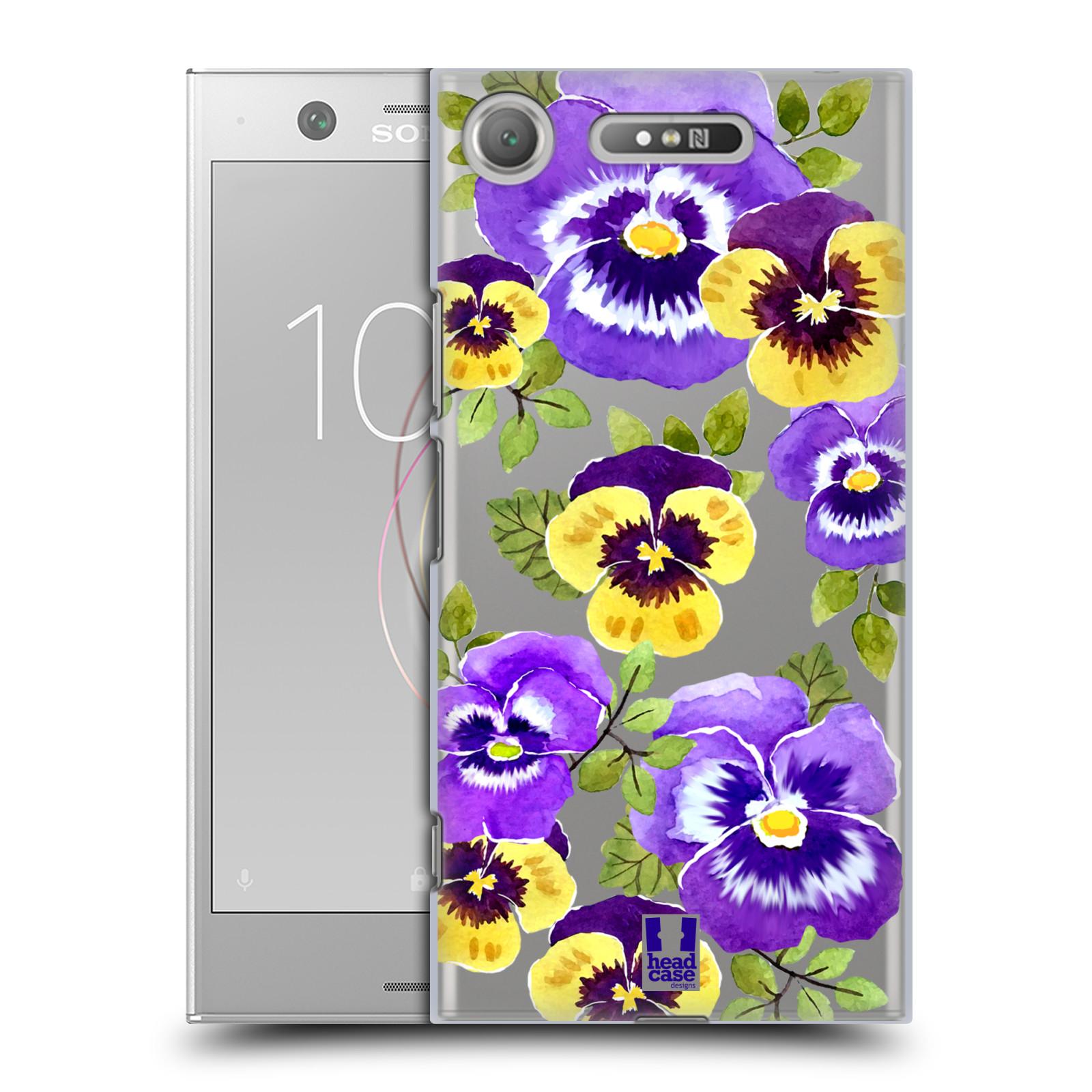 HEAD CASE plastový obal na mobil Sony Xperia XZ1 Maceška fialová barva