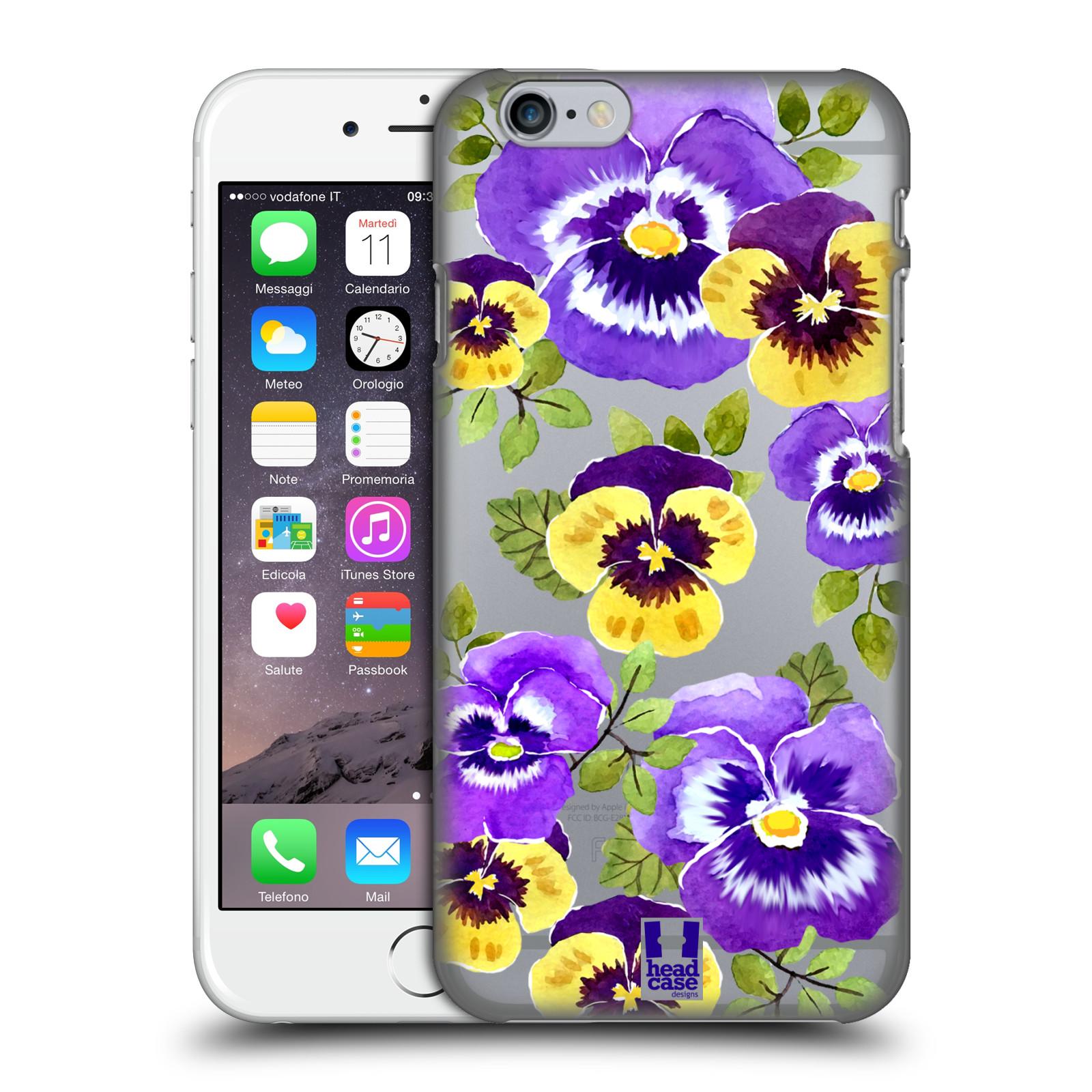 Plastové pouzdro pro mobil Apple Iphone 6/6S Maceška fialová barva
