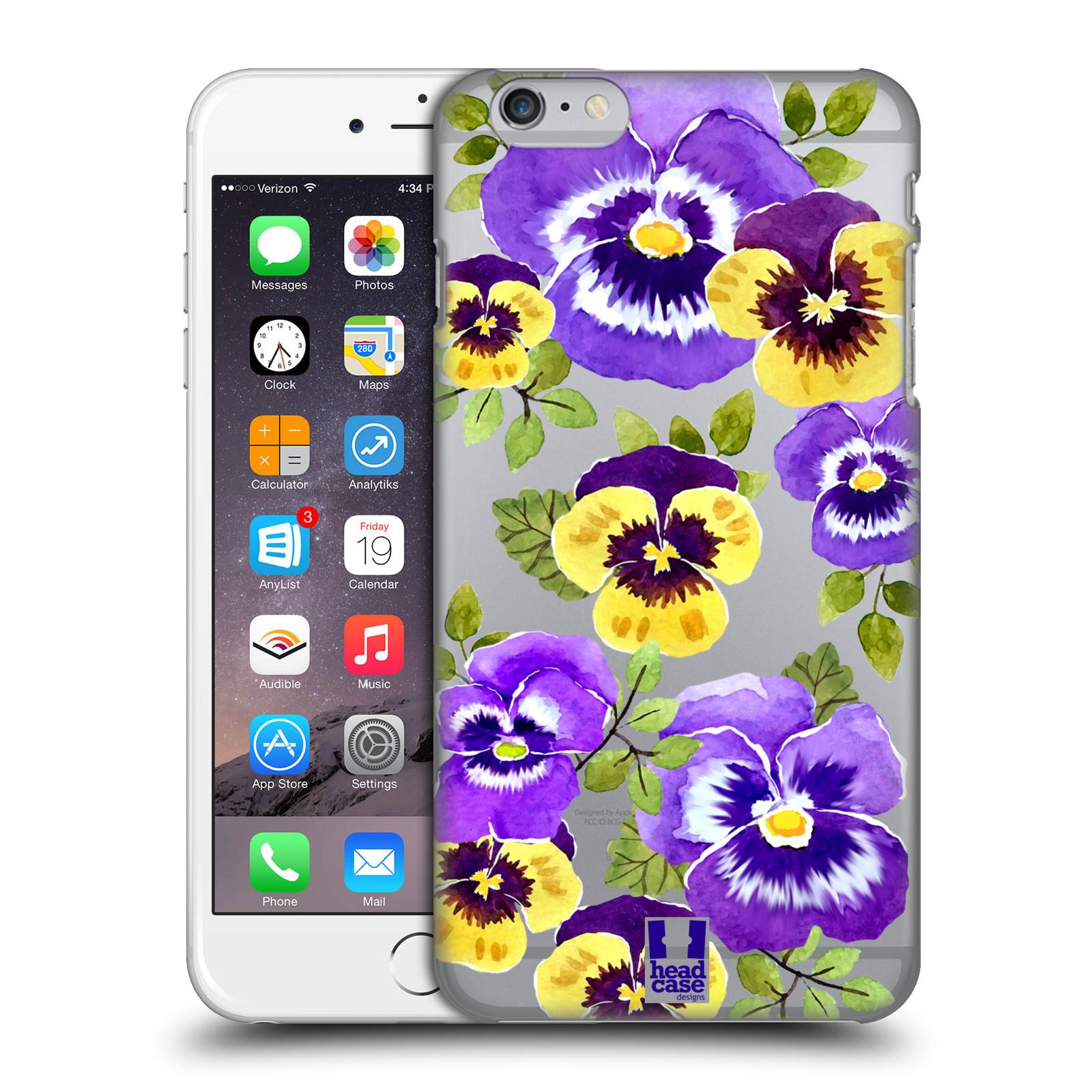 Plastové pouzdro pro mobil Apple Iphone 6 PLUS / 6S PLUS Maceška fialová barva