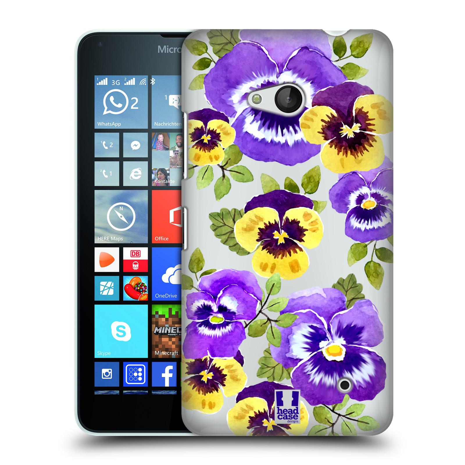 HEAD CASE plastový obal na mobil Nokia Lumia 640 Maceška fialová barva