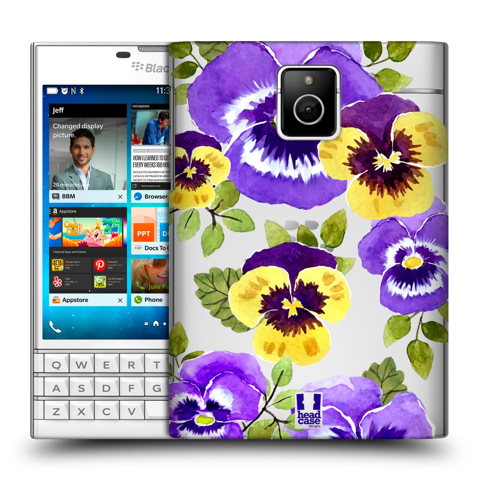 HEAD CASE plastový obal na mobil BlackBerry Passport Maceška fialová barva