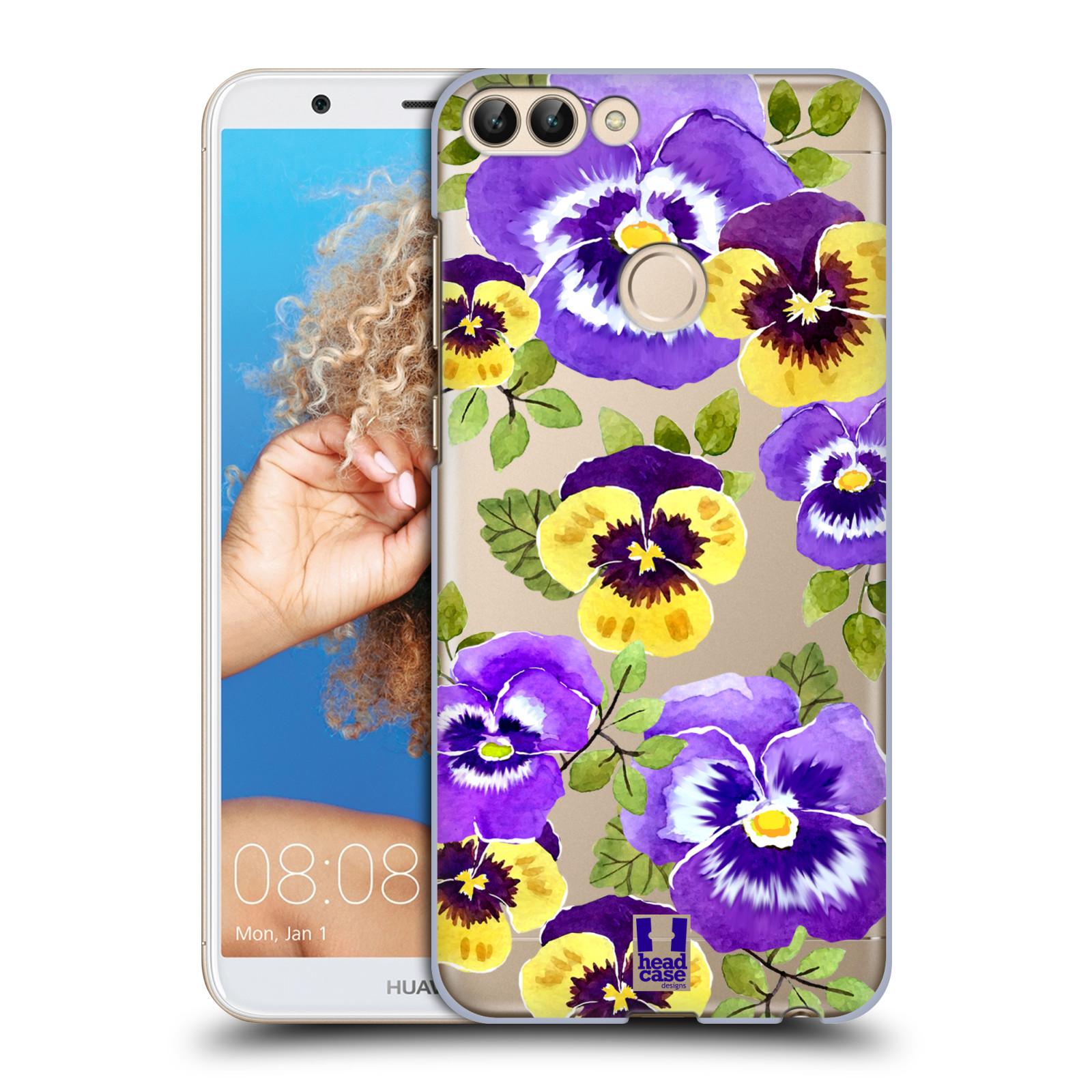 HEAD CASE plastový obal na mobil Huawei P Smart Maceška fialová barva