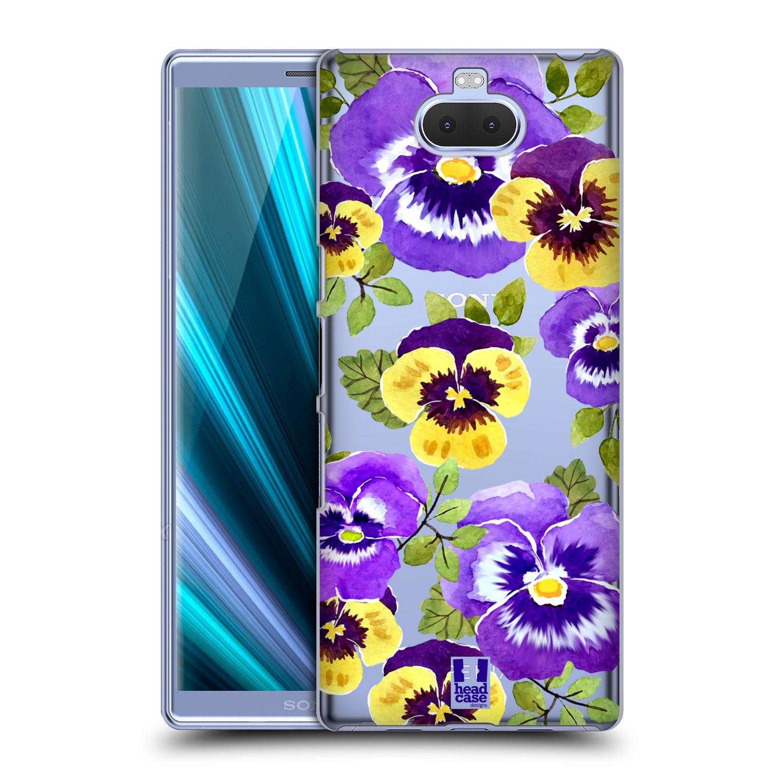 Pouzdro na mobil Sony Xperia 10 - Head Case - Maceška fialová barva