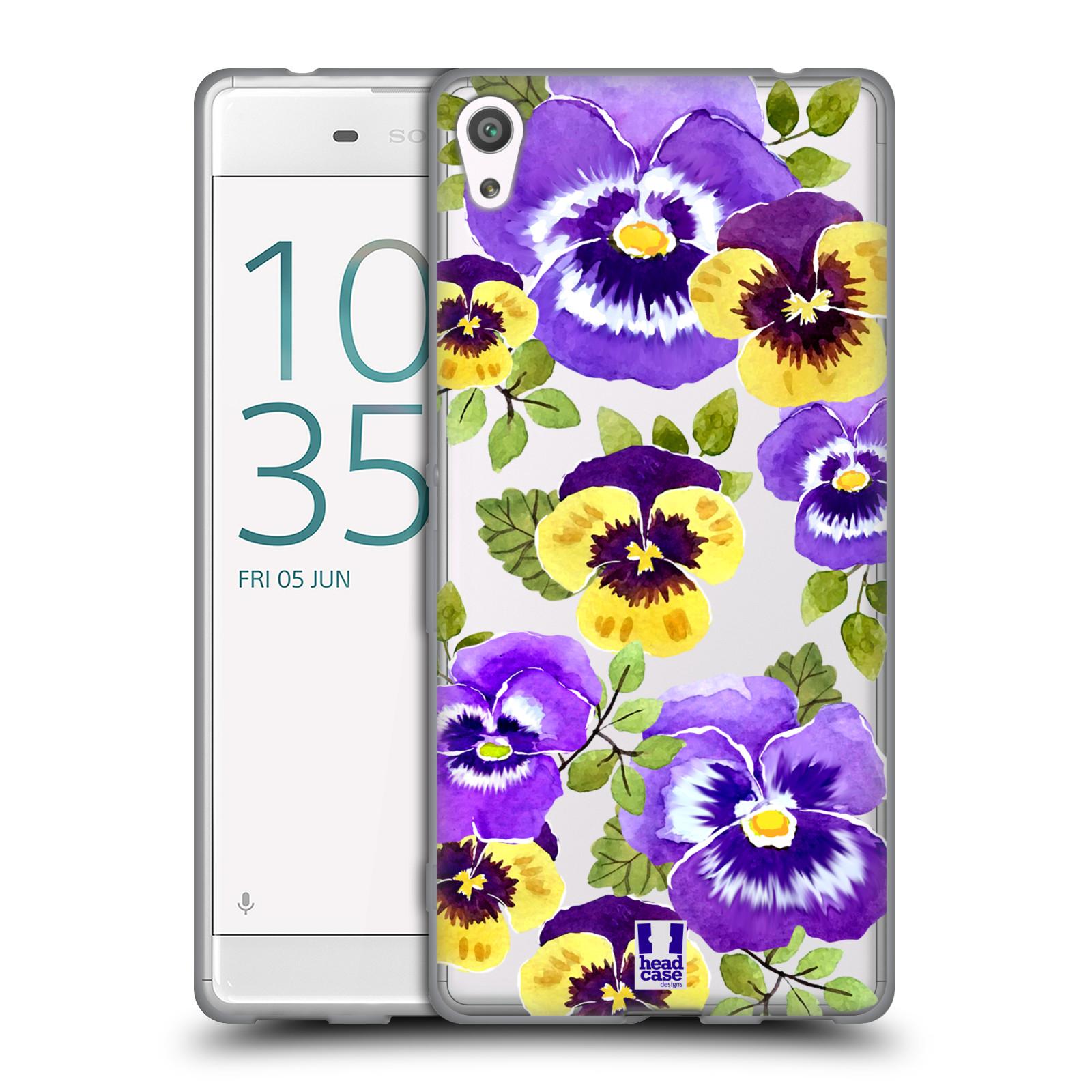 HEAD CASE silikonový obal na mobil Sony Xperia XA ULTRA Maceška fialová barva