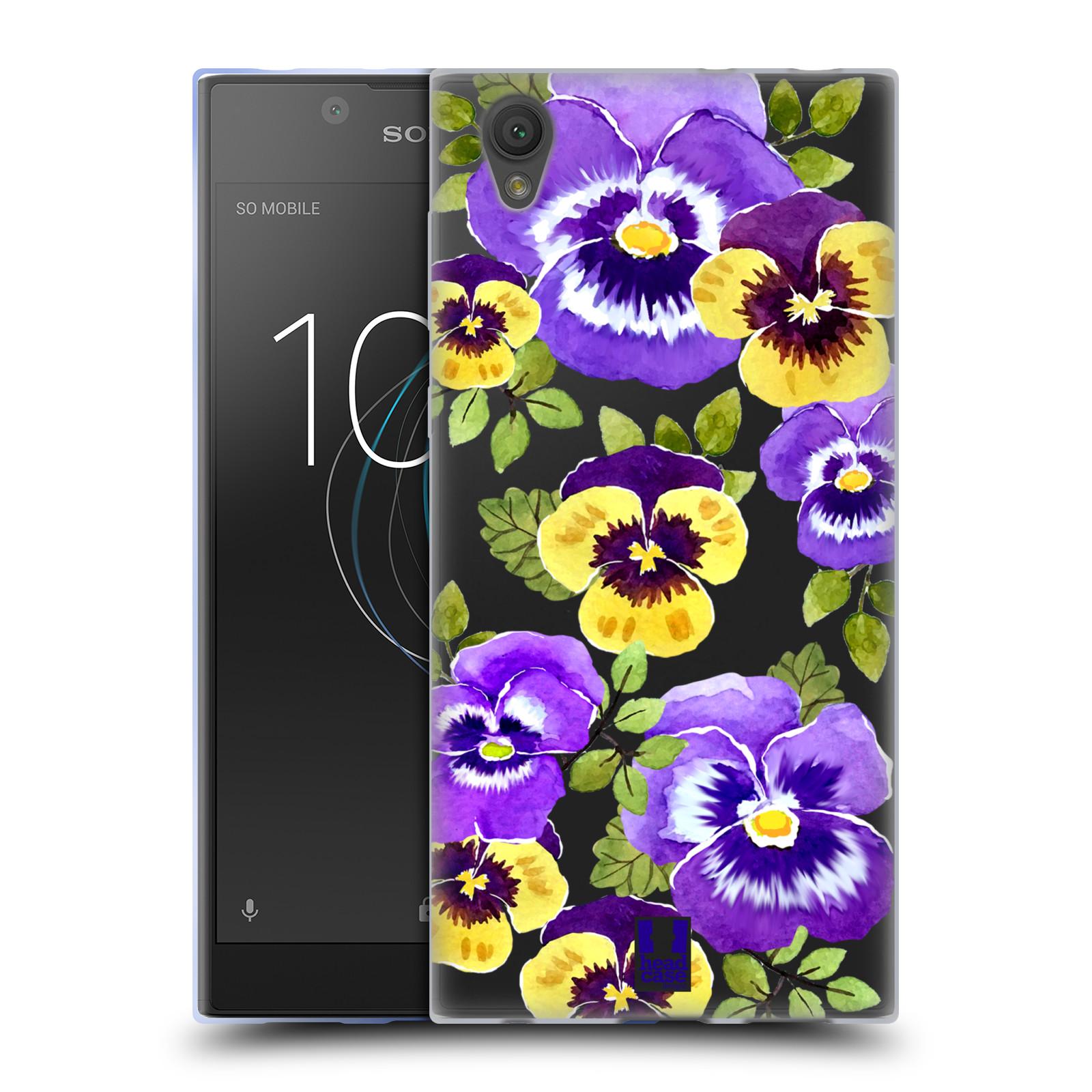 HEAD CASE silikonový obal na mobil Sony Xperia L1 Maceška fialová barva