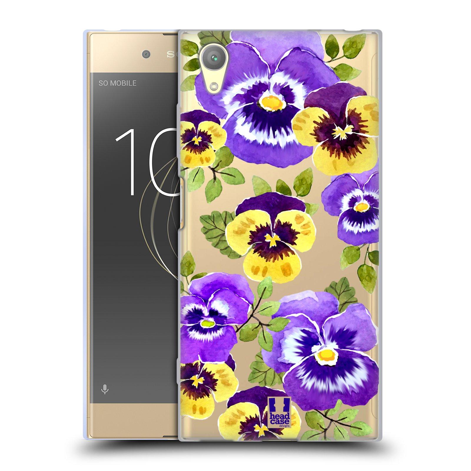 HEAD CASE silikonový obal na mobil Sony Xperia XA1 PLUS Maceška fialová barva