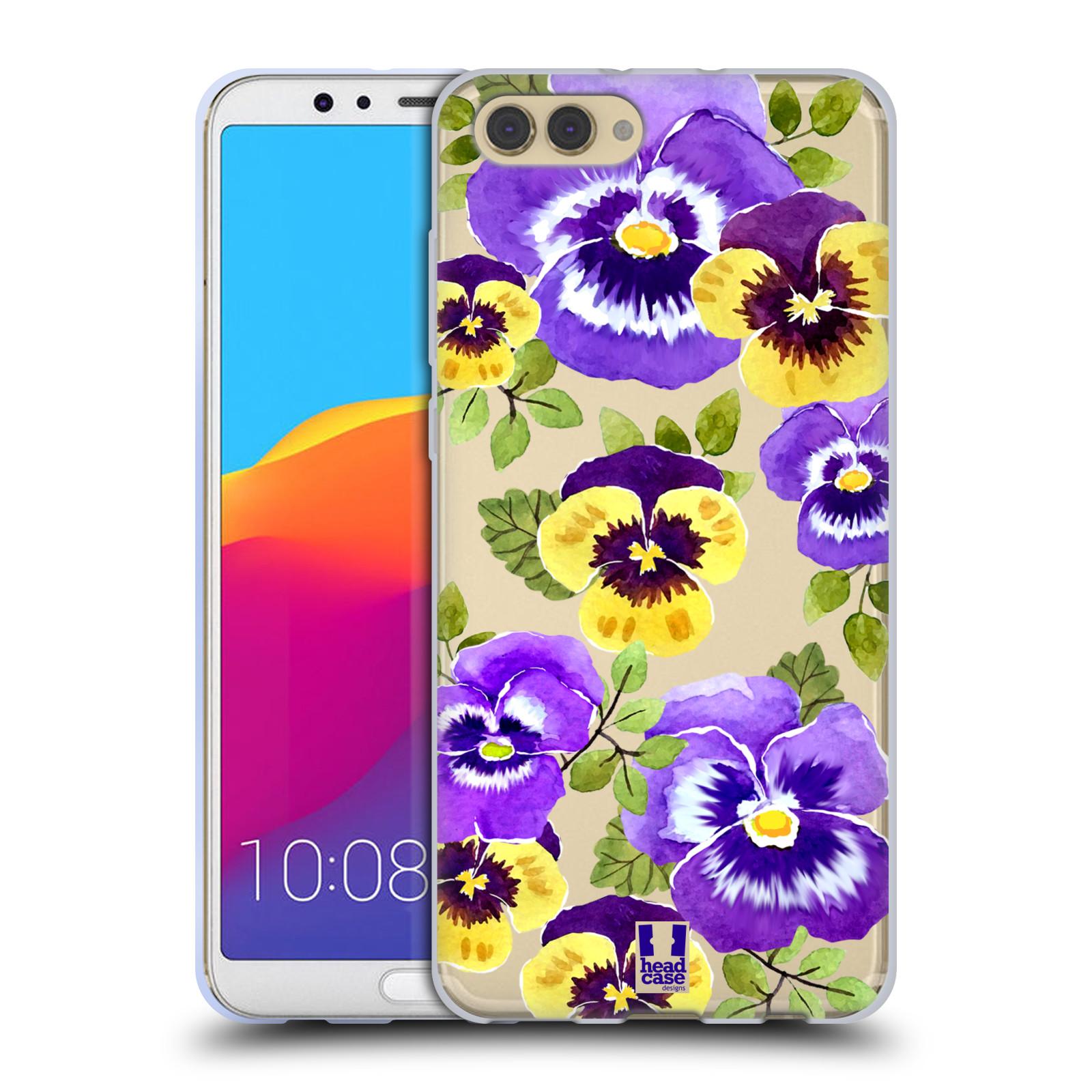 HEAD CASE silikonový obal na mobil Huawei HONOR VIEW 10 / V10 Maceška fialová barva